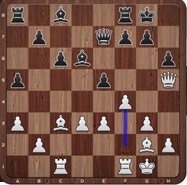 Her flytter Carlsen (hvit) bonden til f4.