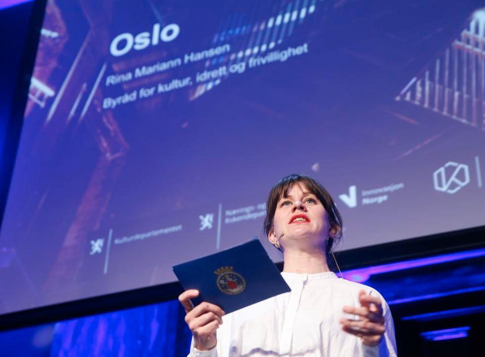 KAMP OM KRONENE: Byråd for kultur, idrett og frivillighet Rina Mariann Hansen (Ap) representerte Oslo på audition for å få deler av Norsk kulturråd til sin by.