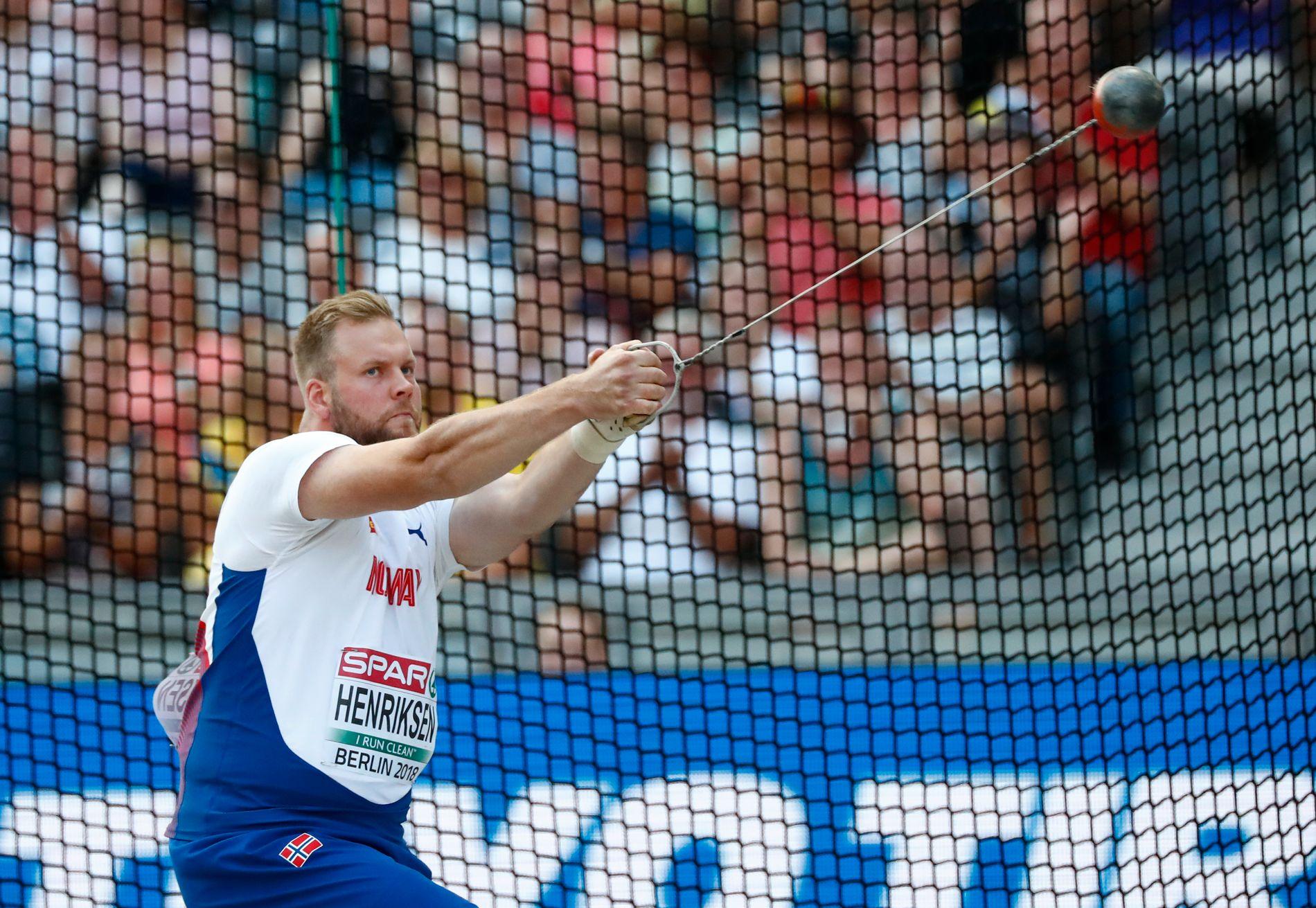 Eivind Henriksen under EM i Berlin i fjor.