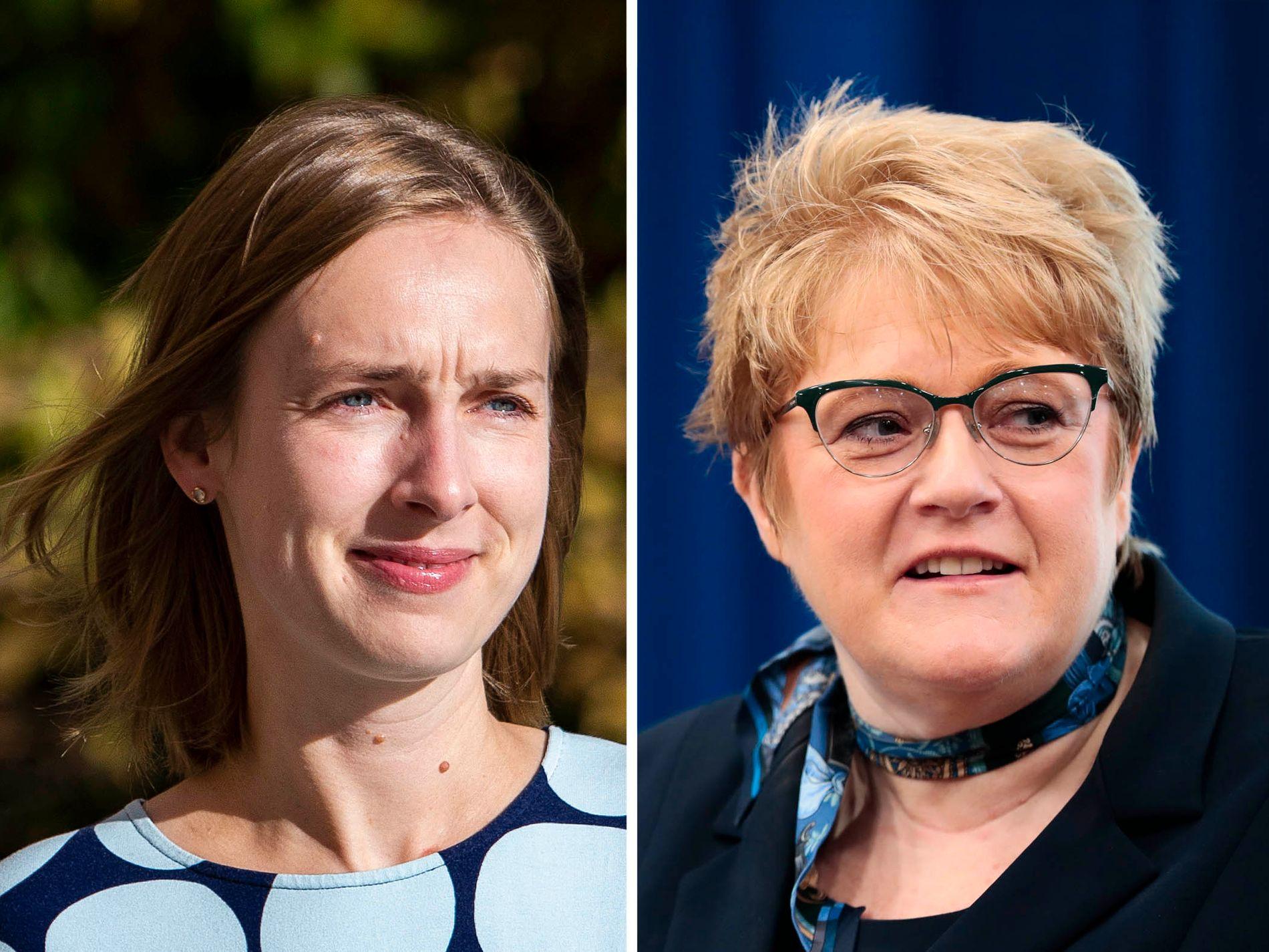 KRITISERER UNGARN: Forsknings- og høyere utdanningsminister Iselin Nybø (V) og kulturminister Trine Skei Grande (V)