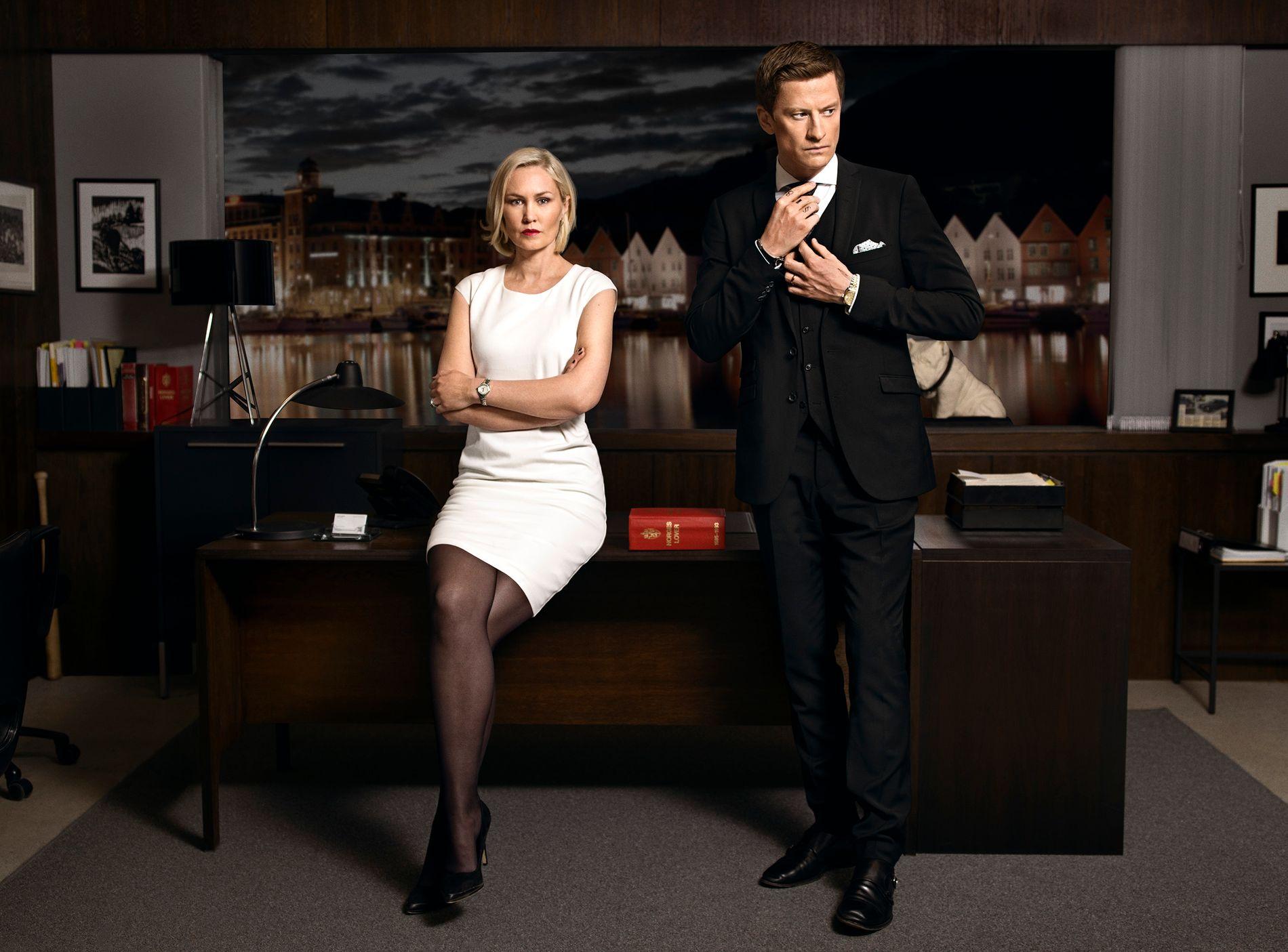 LOV OG RETT I BERGEN: Den bergensproduserte serien «Aber Bergen» kan vinne i kategorien beste drama.
