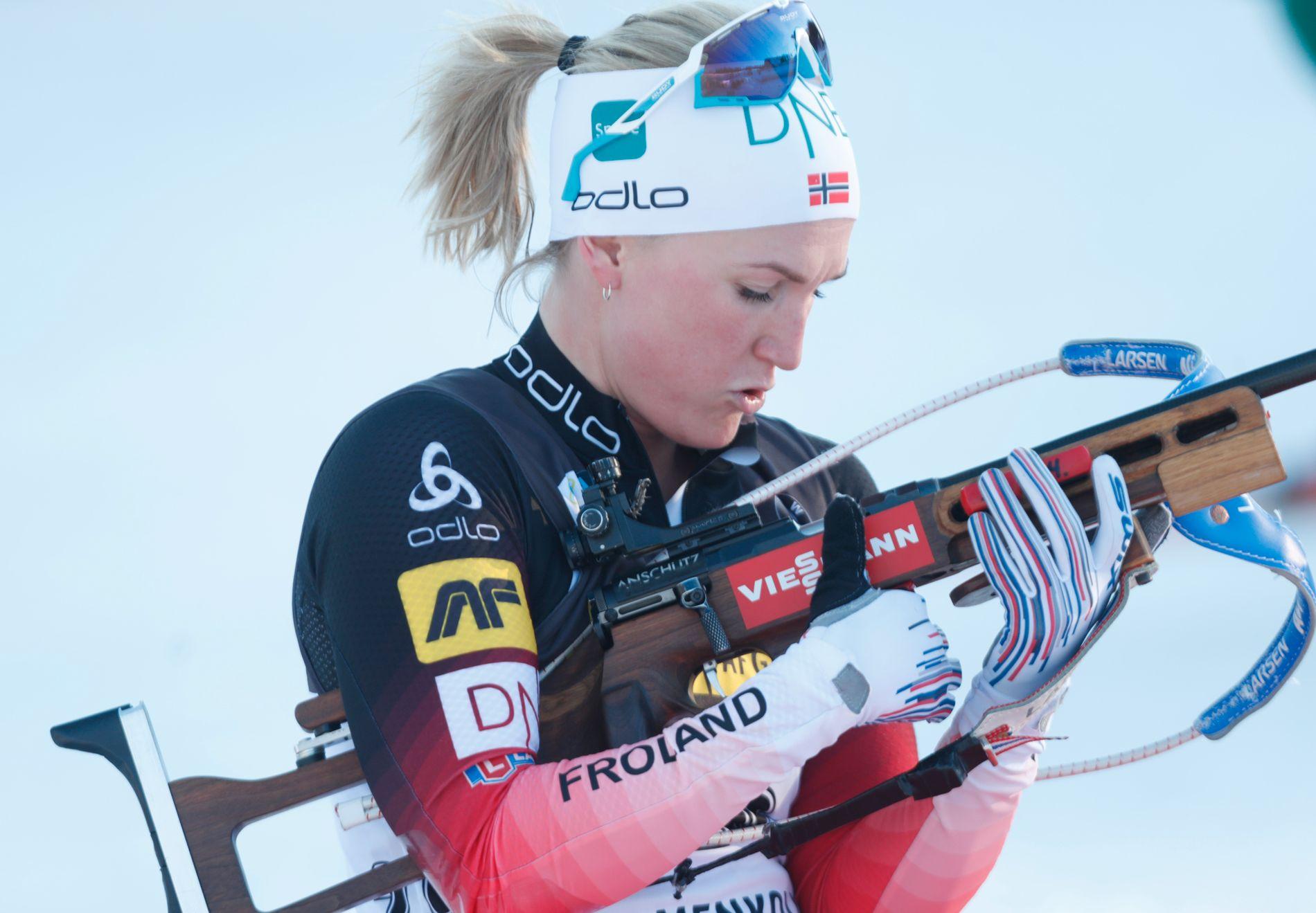 Det  har ikke gått helt veien for Marte Olsbu Røiseland på tampen av sesongen. Men hun vil ikke være historieløs og påpeker at hun har vunnet tre verdenscuprenn og er på tredjeplass i verdenscupen sammenlagt.