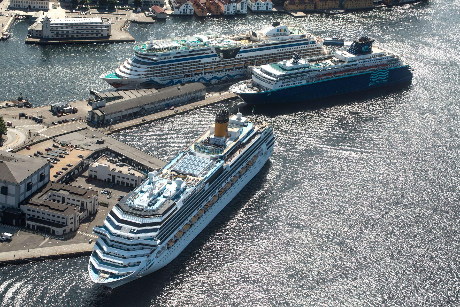 BEGRENSNINGER: Vårt mål er konkrete begrensninger på både hvor mange passasjerer og skip vi kan ha i Bergen samtidig, skriver Julie Andersland.