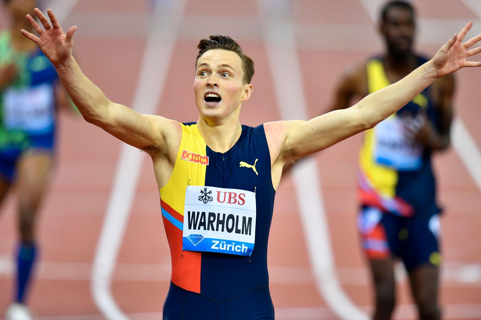 Karsten Warholm løp tidenes nest raskeste løp på 400 meter hekk i forrige uke.