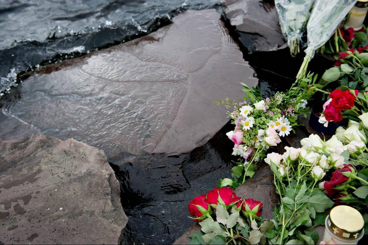 VONDT: I fjor sommer spilte jeg konsert på Utøya, og det gjør vondt å tenke på at mange av de unge, håpefulle menneskene som sto smilende i publikum ikke lenger lever, skriver Lars Vaular. Bildet er fra campingplassen på Utøya.