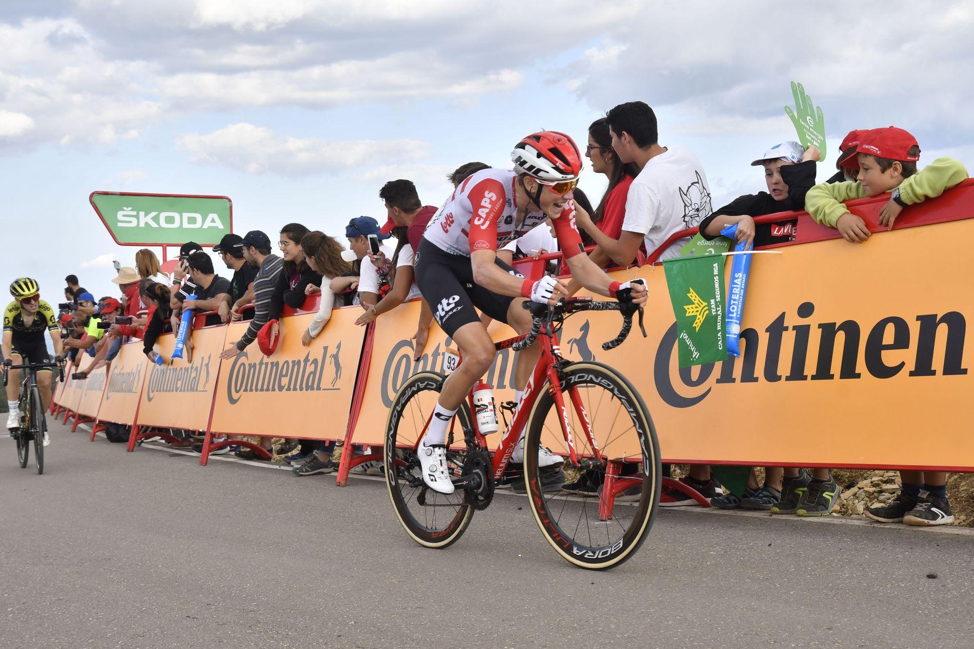 Carl Fredrik Hagen fra Lotto Soudal under den femte etappen av Vuelta a España fra L' Eliana til Observatorio Astrofisico de Javalambre.