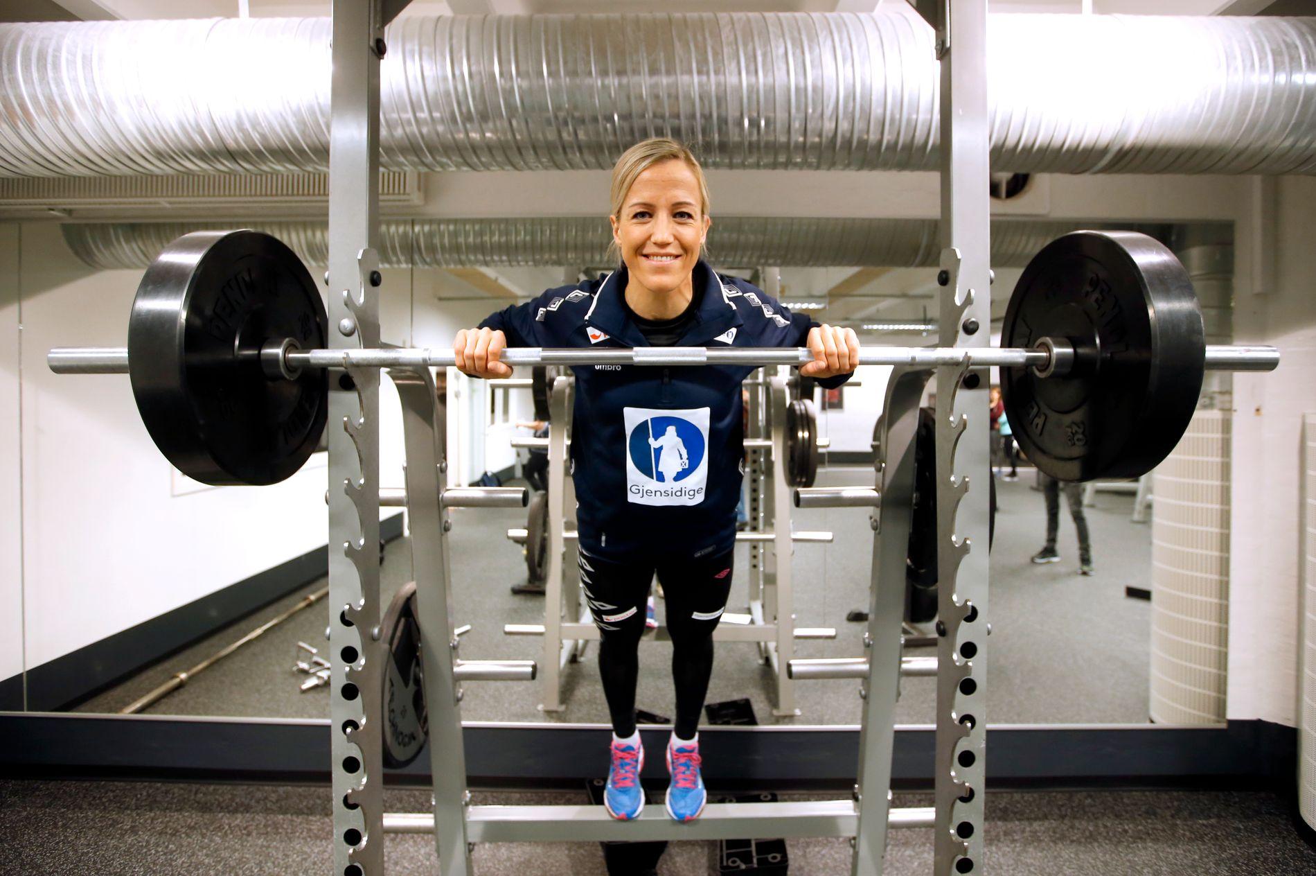 Styrketrening er en viktig brikke for at Heidi Løke skal holde seg sterk og skadefri.