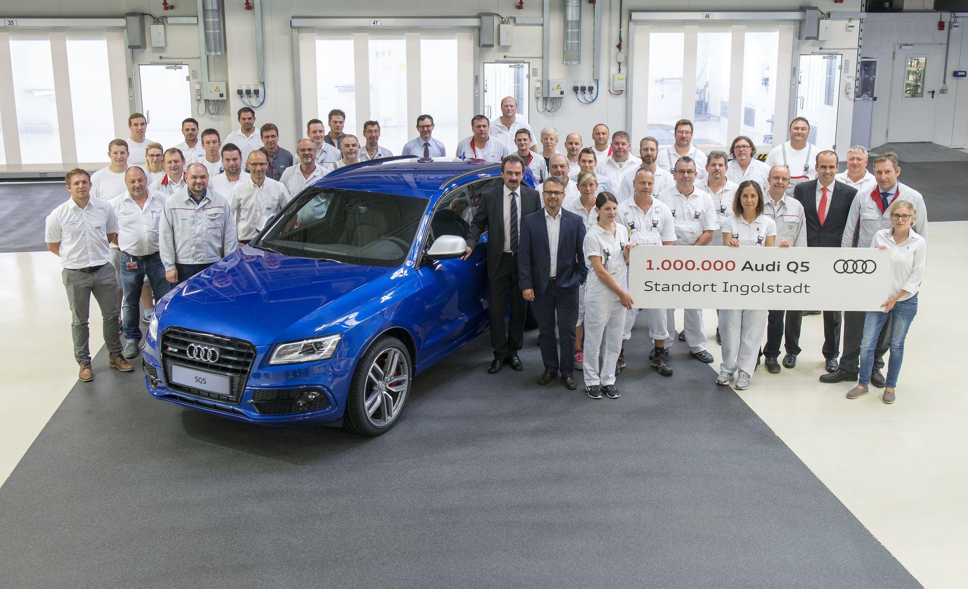 NUMMER TRE: Tidligere i år ble Audi Q5 nummer én million laget på Audi-fabrikken i Ingolstad, men det ser ut som ikke klarer å holde tritt med sine argeste konkurrenters salgstall.