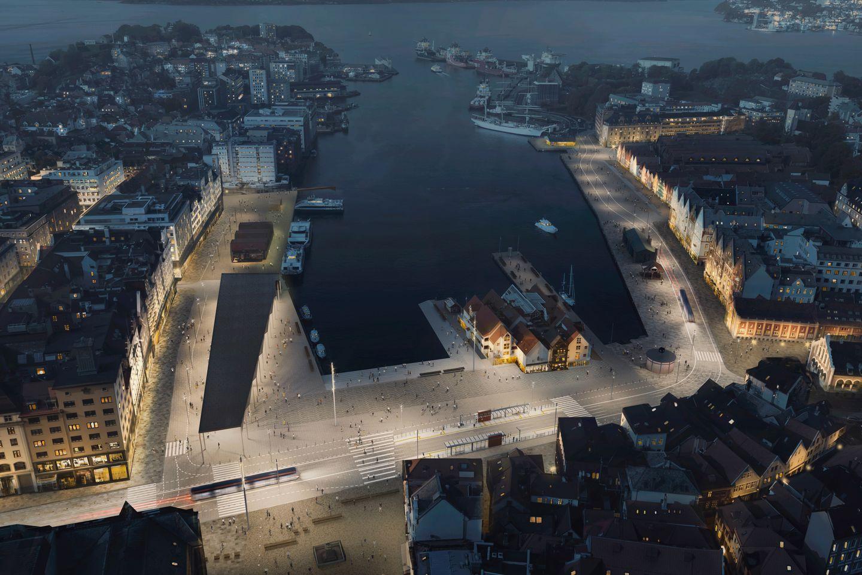 ELEGANT: Det mest iøynefallende er bruken av lys, farger og fine detaljer som åpner området opp, fra Strandkaien til festningsområdet.