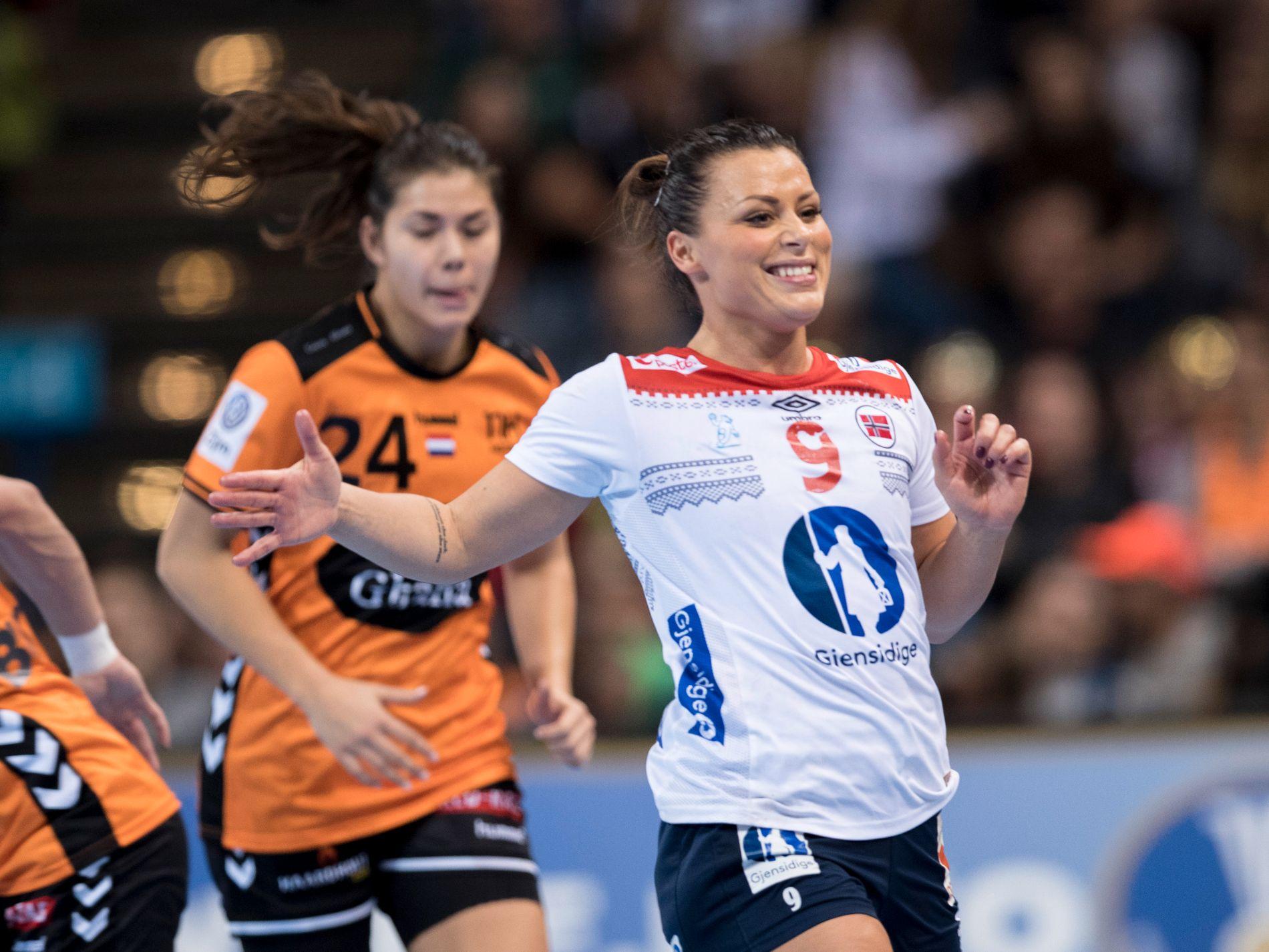 Nora Mørk kan juble for ny klubb. Her i håndball-VM i Tyskland tilbake i 2017.