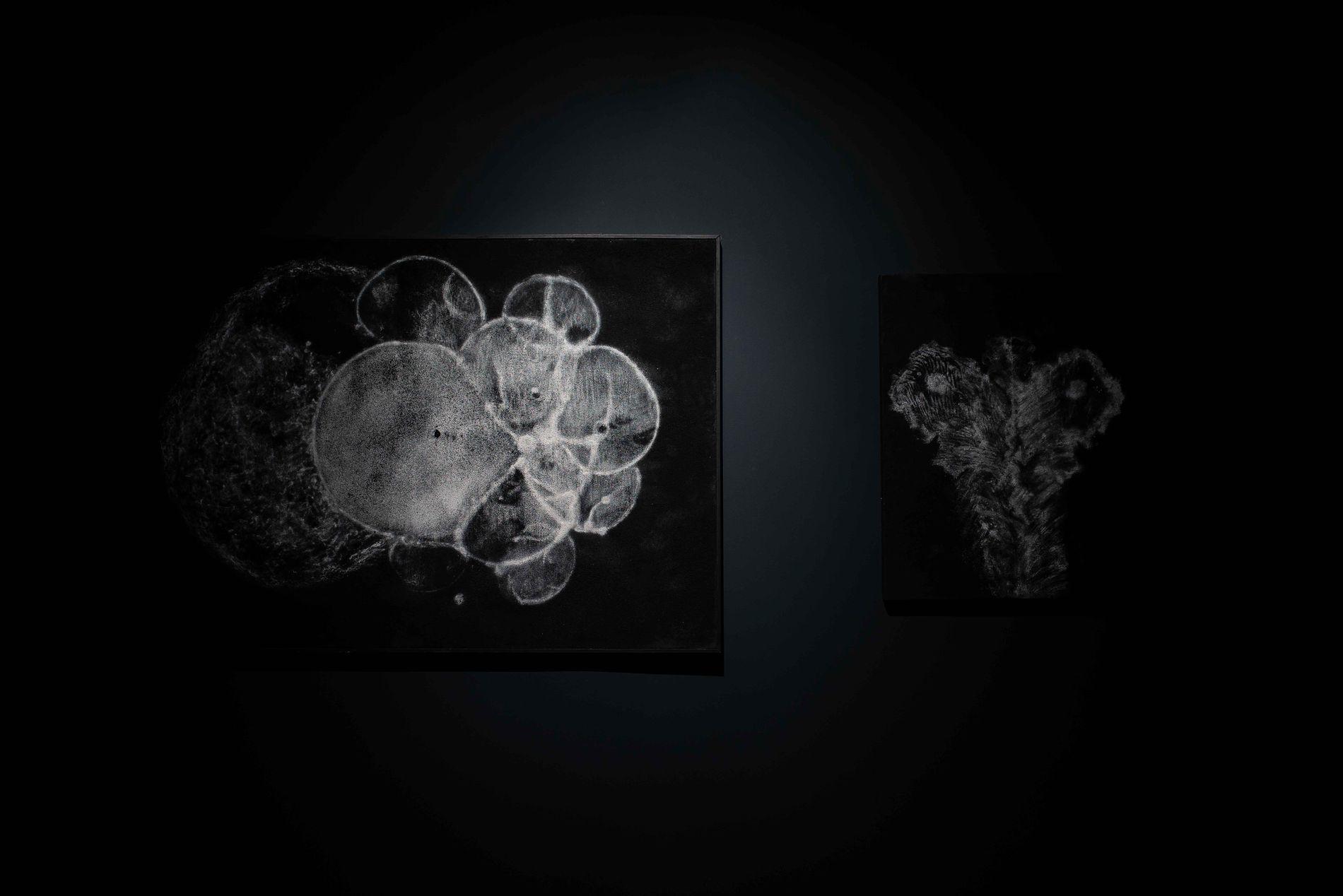 REFLEKSJON: Kunsten er laget av kull, kritt og diamantstøv, bygget lagvis oppå hverandre.