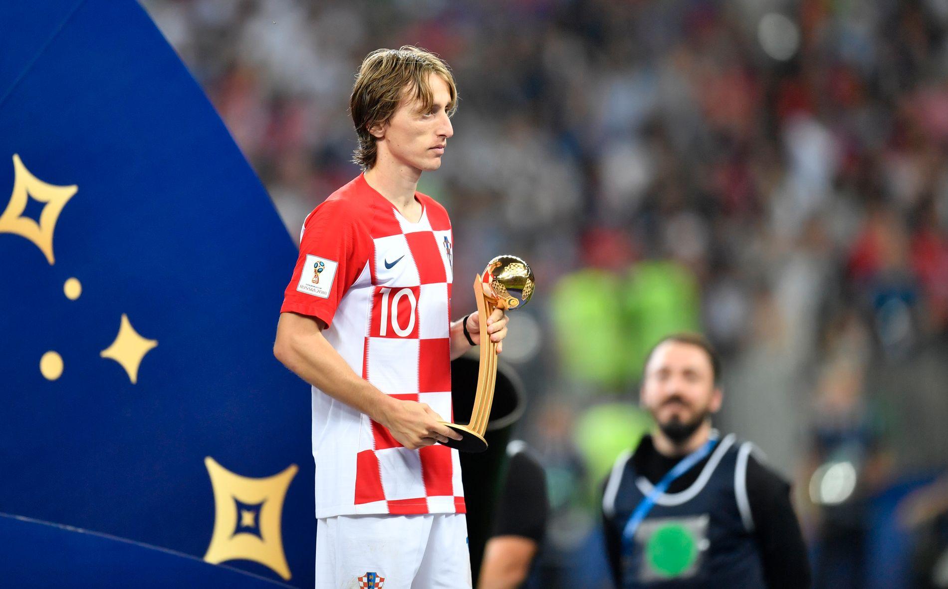 Kroatias Luka Modric ble kåret til VMs beste spiller.