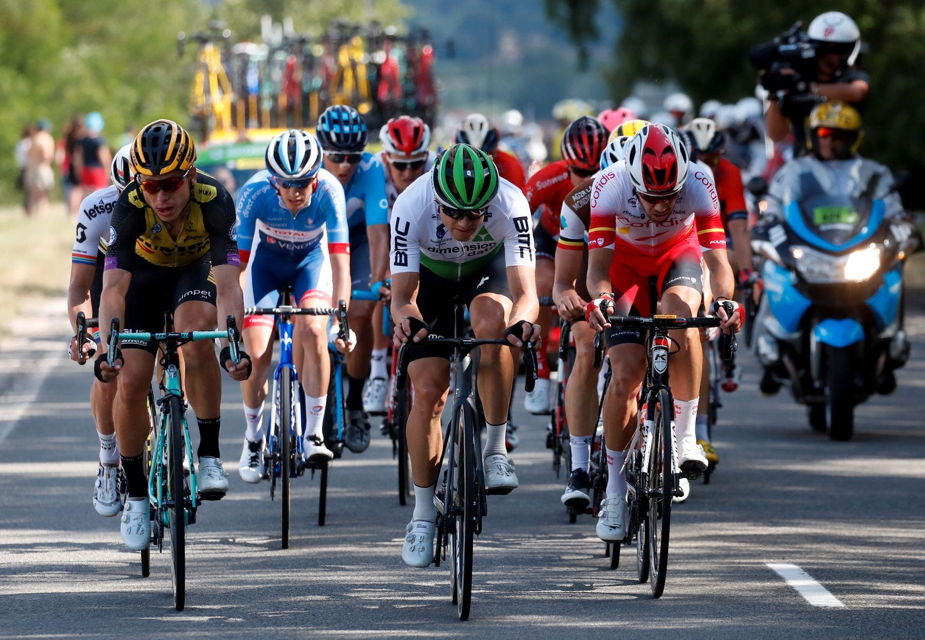 Edvald Boasson Hagen (midten) har ikke fått det til å stemme under årets Tour de France.