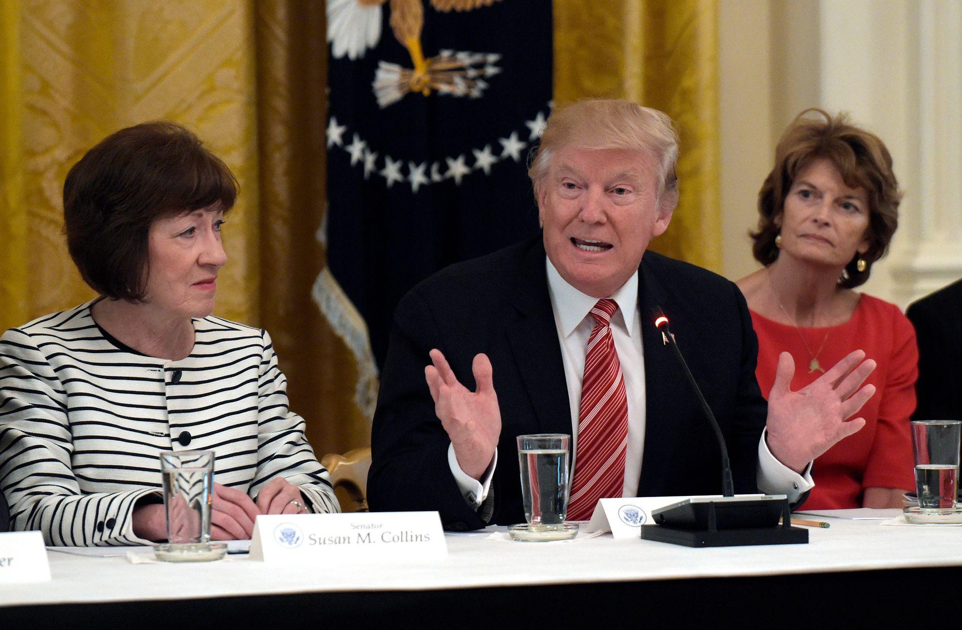 STEMTE MOT: Både Susan Collins og Lisa Murkowski stemte mot president Donald Trumps nye helsereform tirsdag.