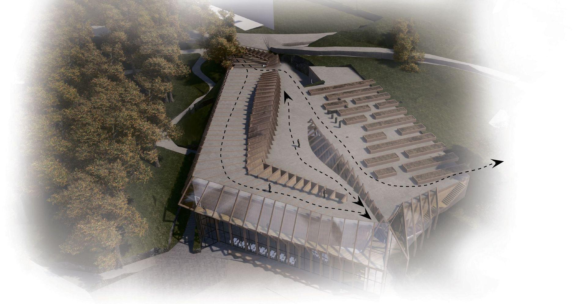 Nytt museum: Tanken er at folk kan ferdes fritt hele døgnet, som på Operaens tak i Oslo
