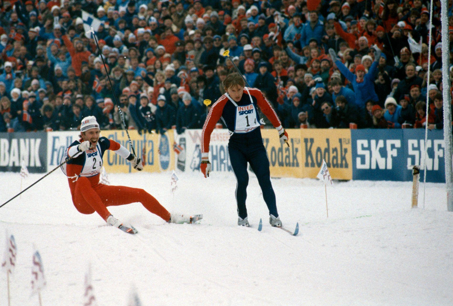 Hvor var du da Brå brakk staven? Et av norgeshistoriens mest berømte idrettsøyeblikk fant sted på VM-stafetten i 1982.