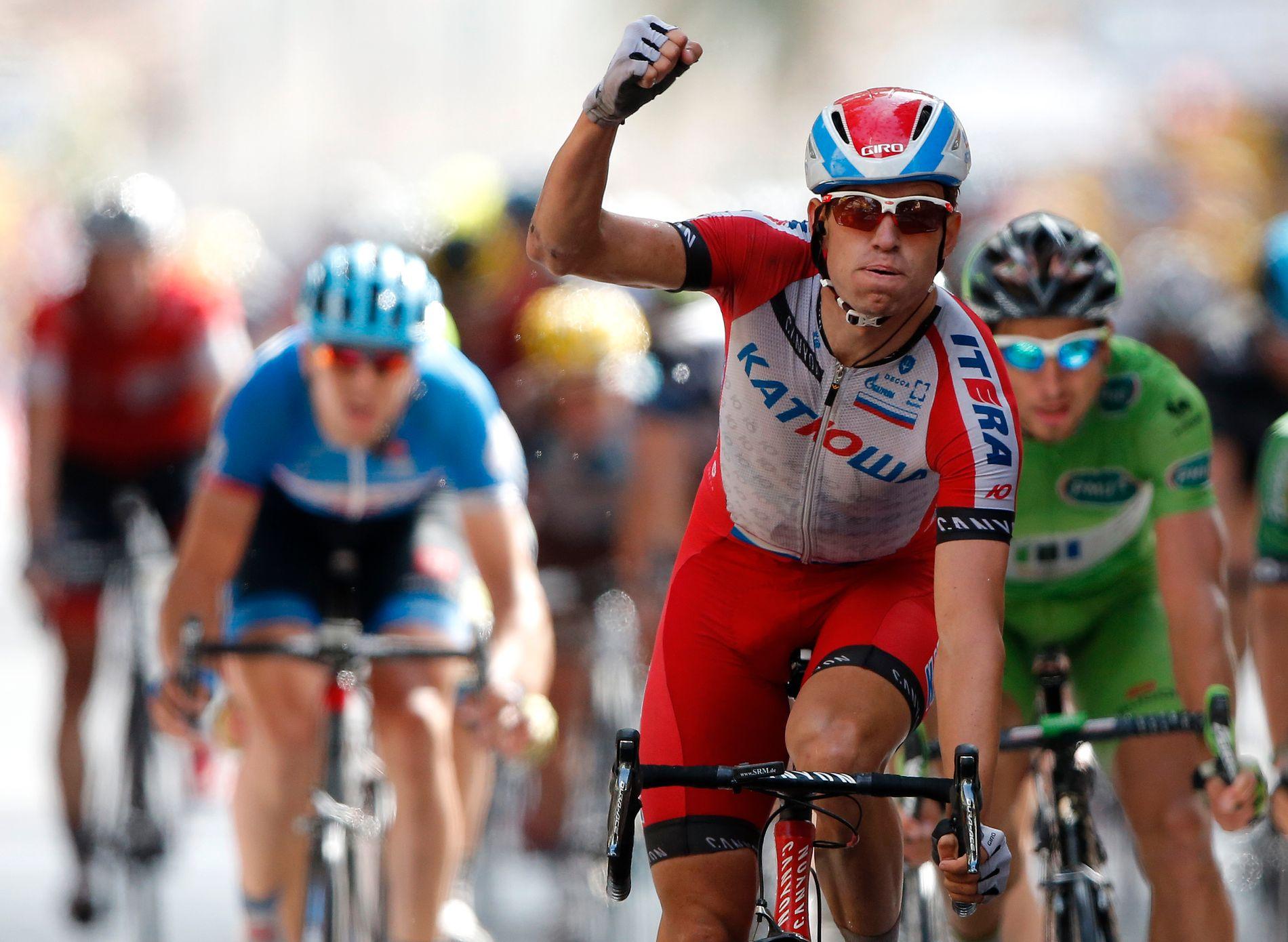 Alexander Kristoff klinte til med to etappeseiere i 2014. I år går han får sin fjerde i Tour de France.