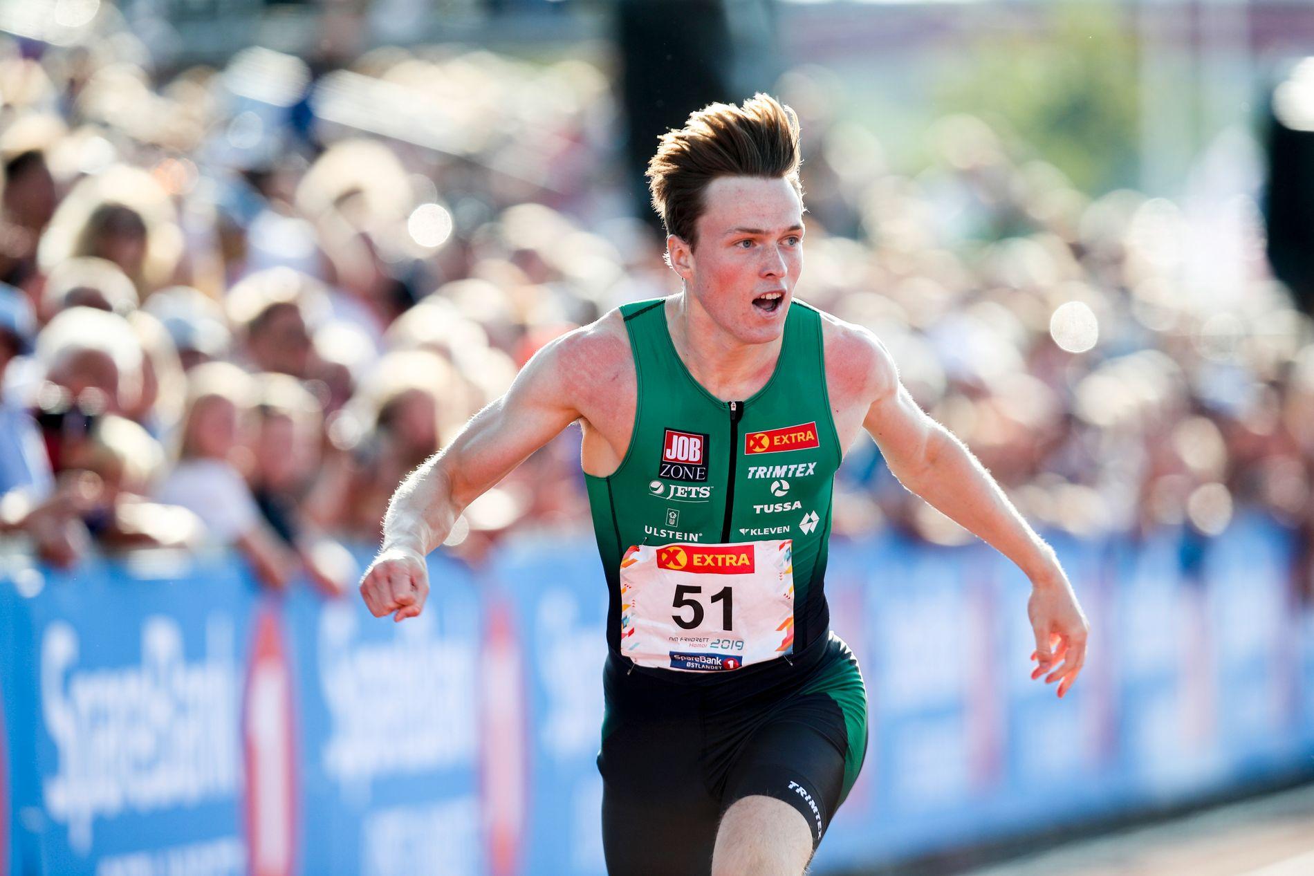 Karsten Warholm var helt suveren på 400 meter i NM lørdag.