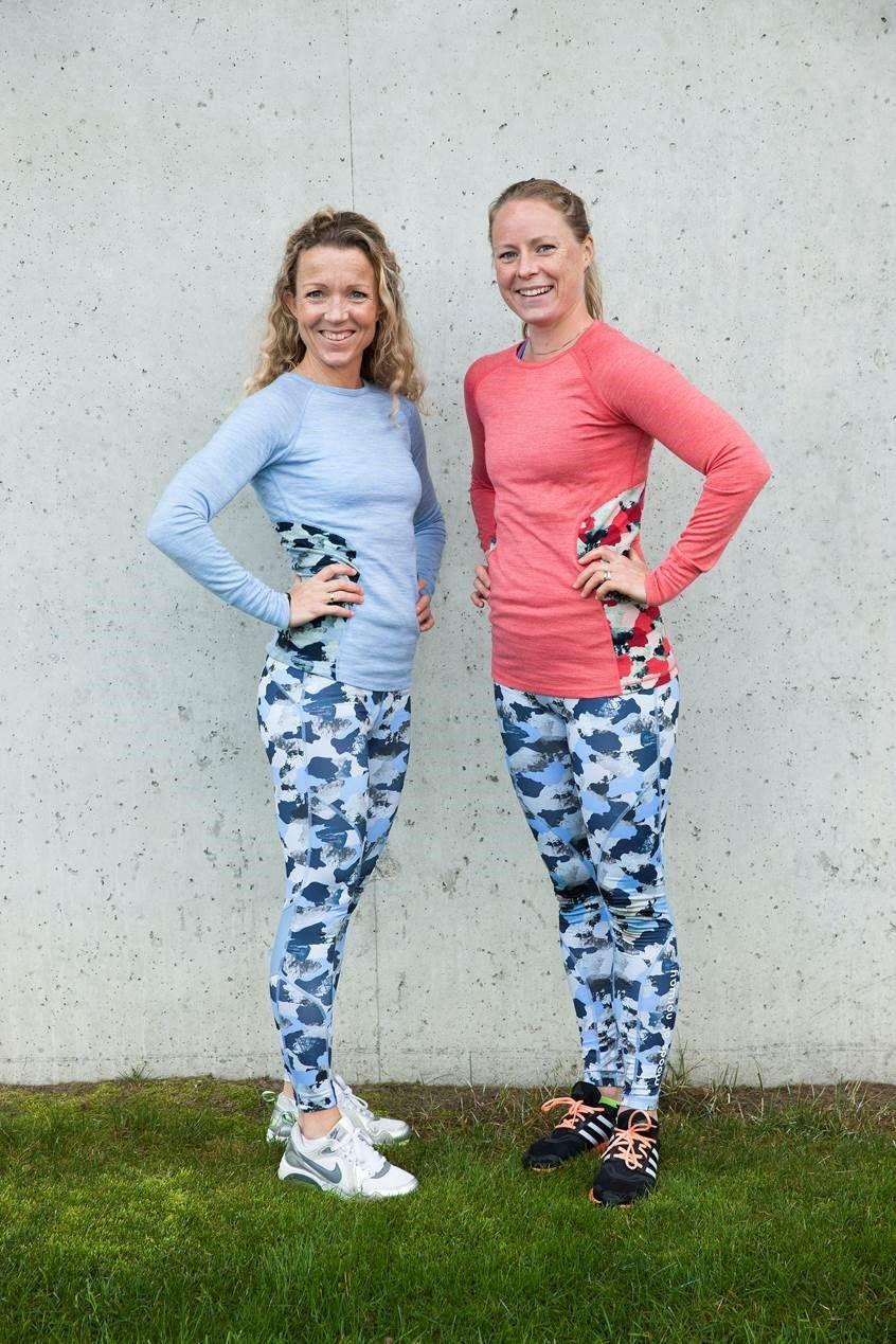 NETTMØTE: Cathrine Borchsenius, til venstre, og Helene Høimyr svarte på spørsmål om trening, kosthold og helse i dagens nettmøte.