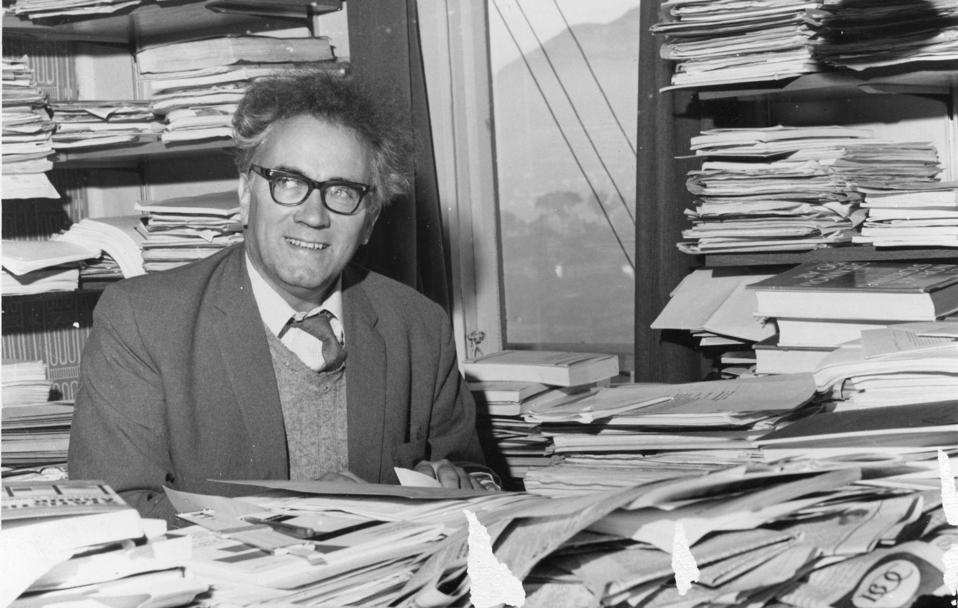 PIONER: Stein Rokkan var professor ved Universitetet i Bergen, og var en pioner innen både norsk og internasjonal valgforskning.