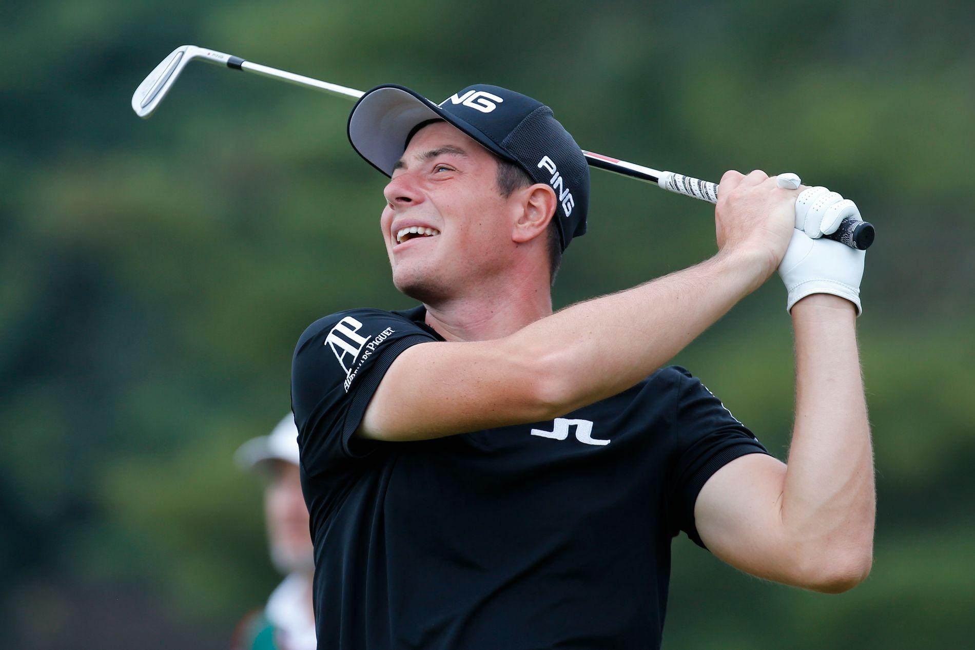 Viktor Hovland gikk en god runde i USA fredag.