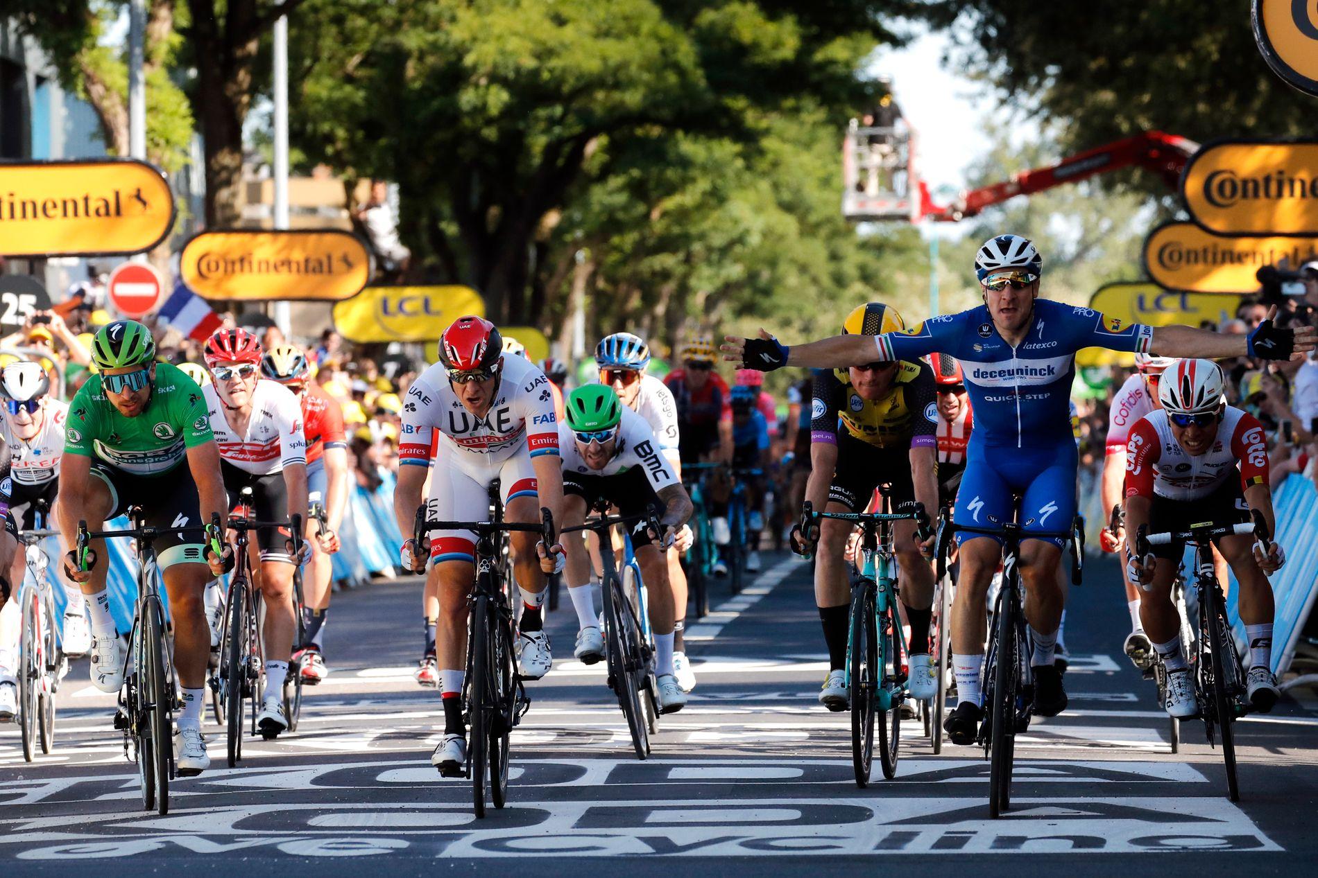 Alexander Kristoff var ikke langt unna å vinne den fjerde etappen i touren.