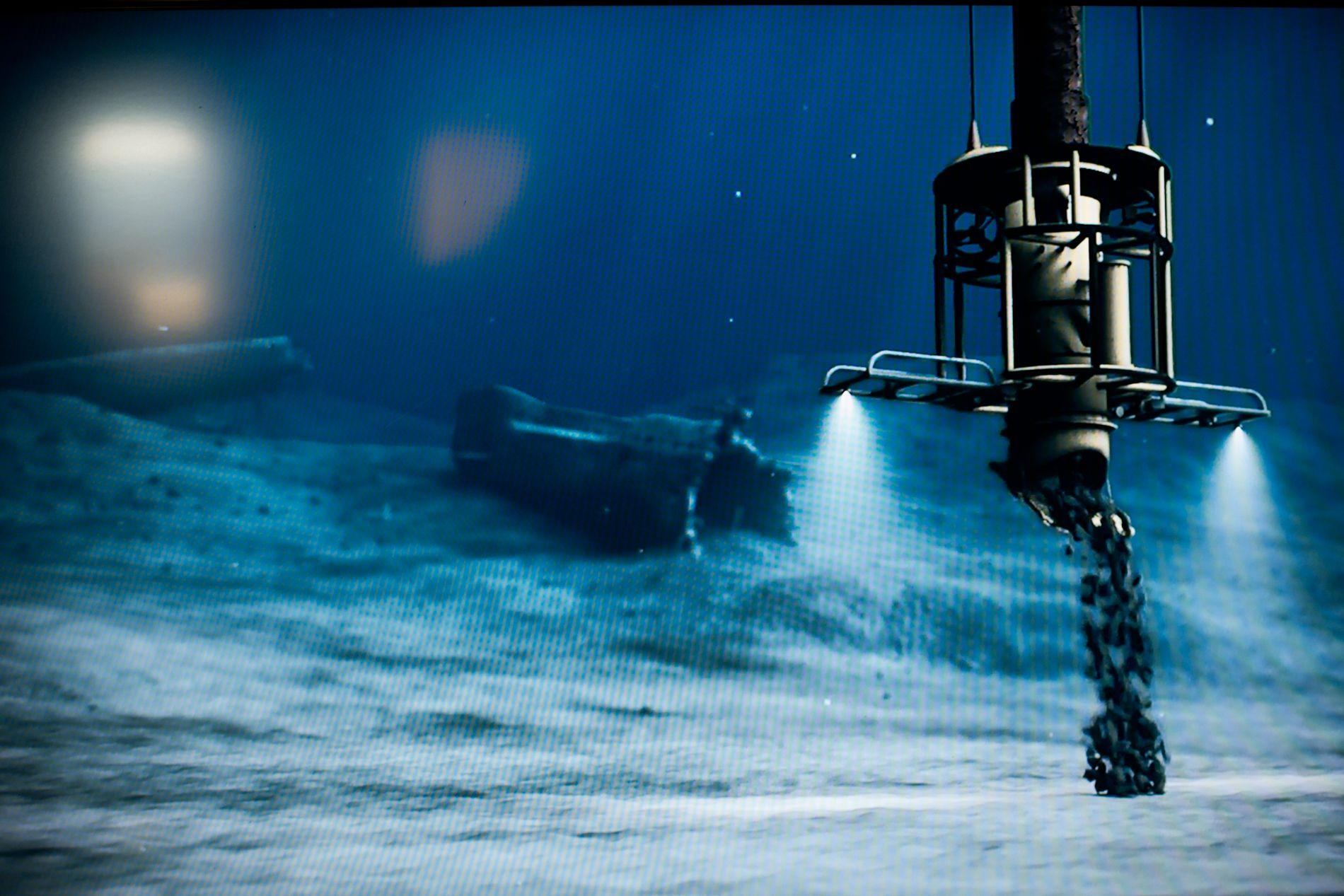 3400 ÅR: Kystverket påstår at tildekking av U-864 vil være trygt i 3400 år. Lurer jo virkelig på hvordan de har kommet frem til dette tallet, skriver innsender.  Bildet er fra arbeid som ble gjort i 2016 for at ubåten skal ligge støtt på havbunnen.