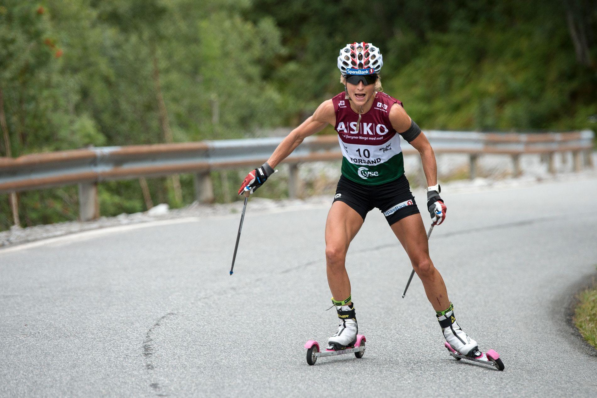 Storstjernen Therese Johaug i aksjon i Lysebotn opp. Det ga skyhøye seertall for NRK.