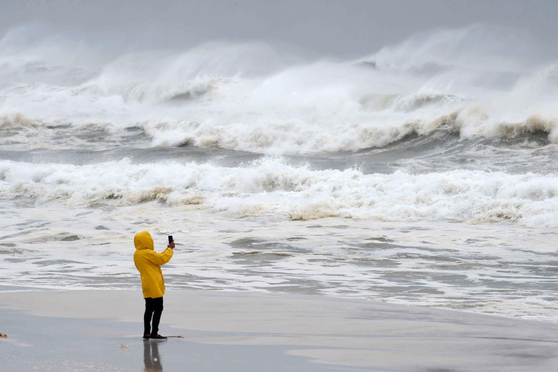 TRAFF LAND: Orkanen Michael har truffet land i Florida.