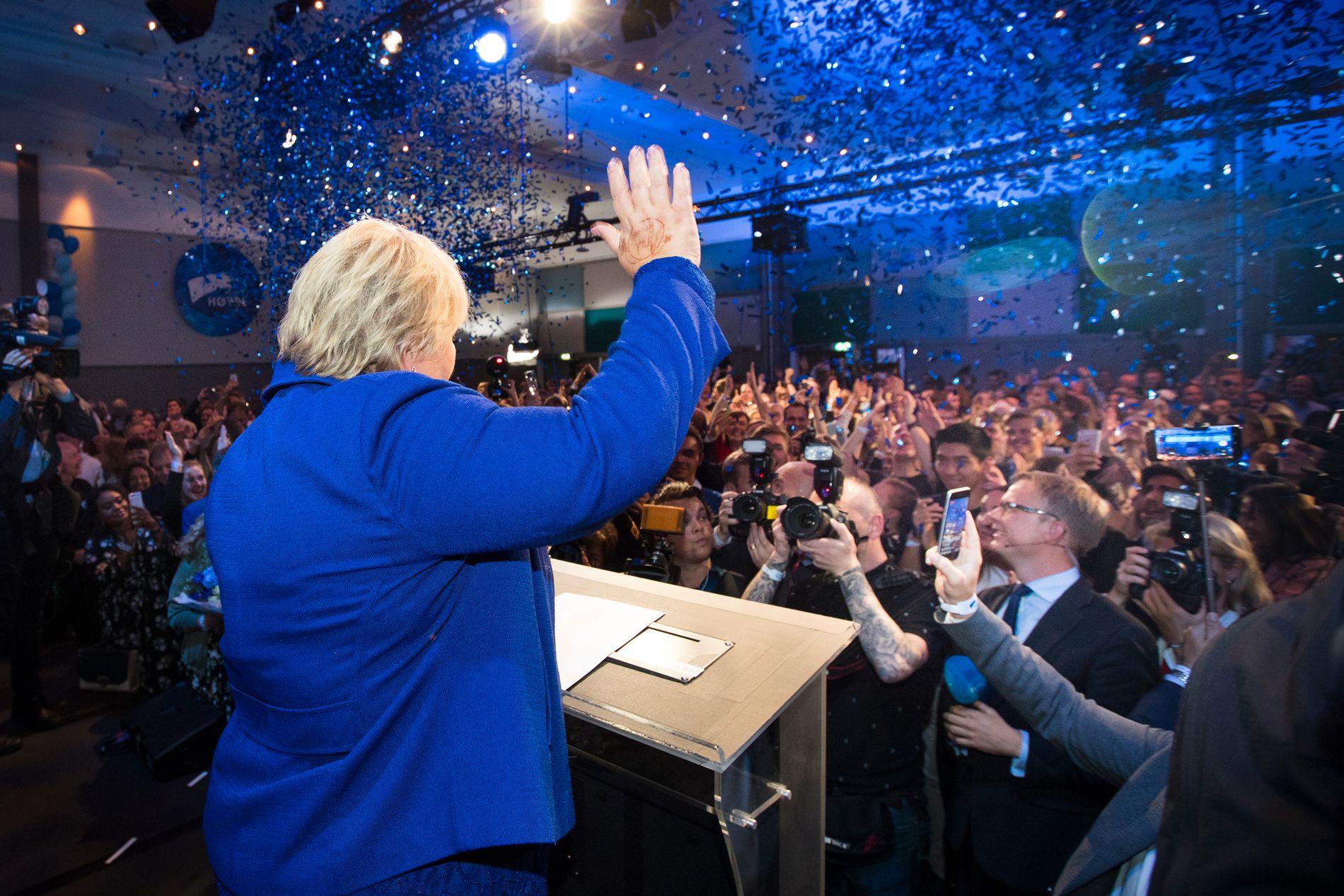 OGSÅ VALGVINNER: Det var en like stor andel av Aps tidligere velgere som gikk til Høyre som gikk til Senterpartiet. Distriktsopprøret var ikke avgjørende.