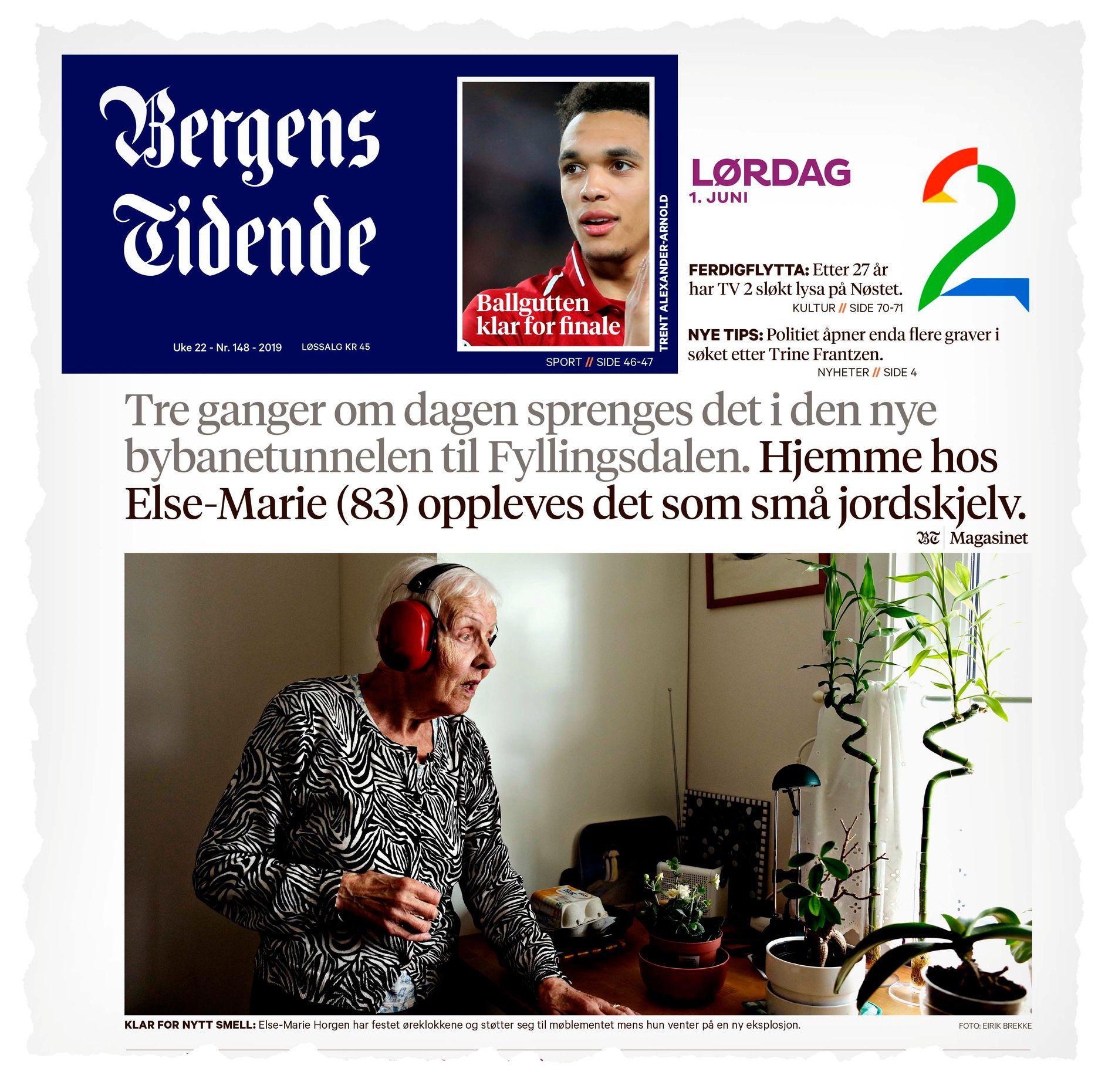 BAKGRUNNEN: Bergens Tidende publiserte 1. juni en stor reportasje om støyproblemene i Fyllingsdalen.
