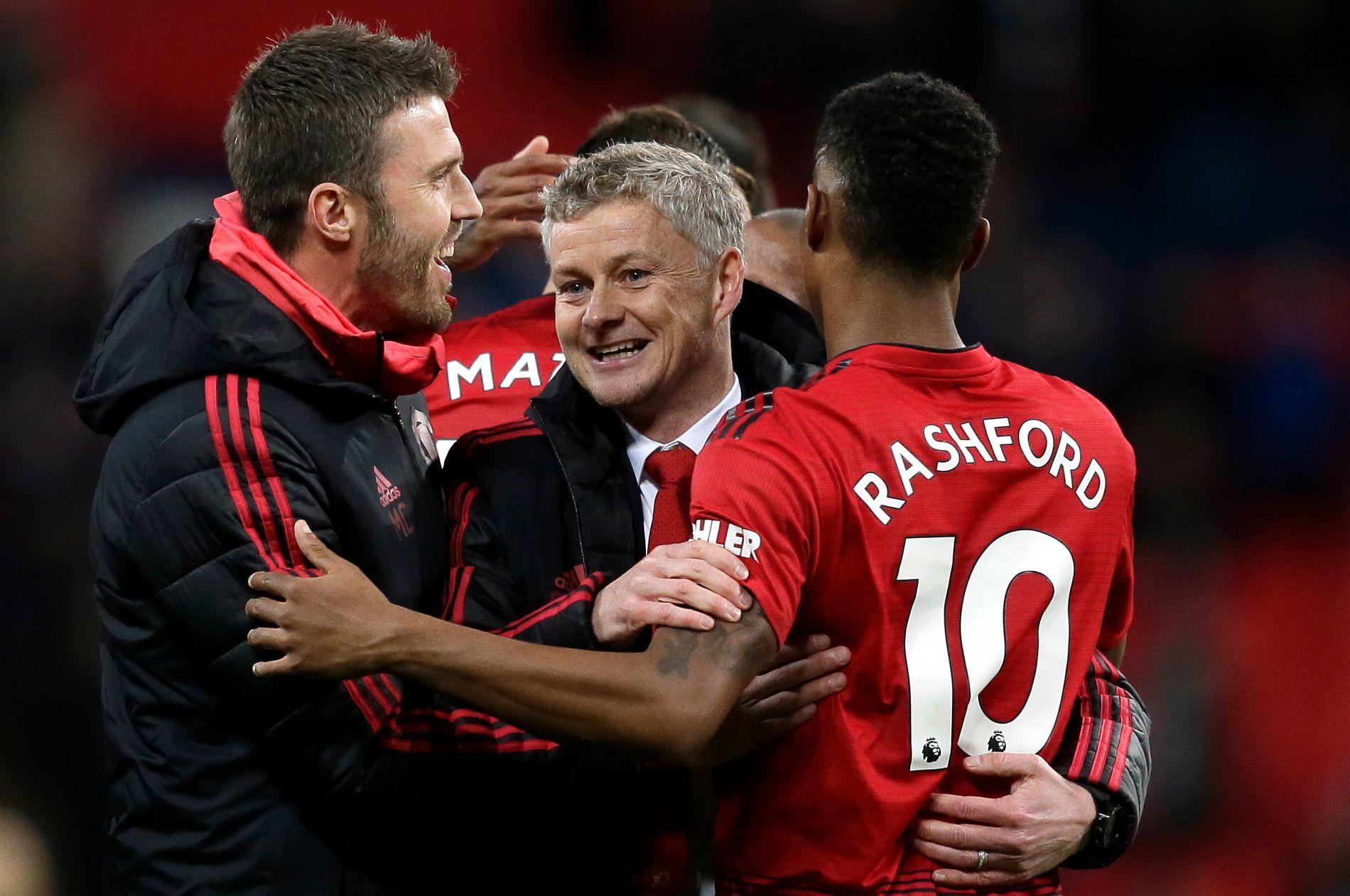 Fem scoringer har det blitt de siste seks kampene, og Solskjær har sagt at Rashfords talent ikke skyr unna sammenligning med klubblegender som Wayne Rooney og Cristiano Ronaldo.