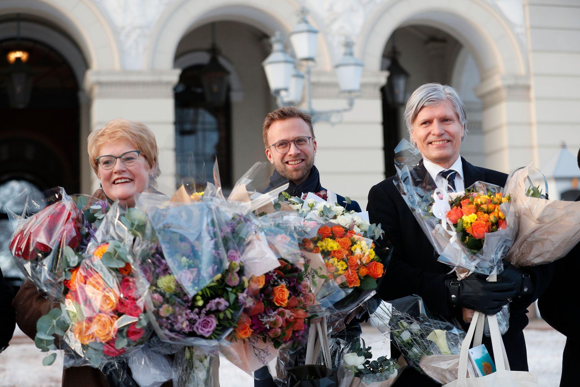 OSLO: To av tre Venstre-statsrådar er frå Oslo, Trine Skei Grande og Olav Elvestuen (til h.). Det er ikkje tilfeldig: hovudstaden er blitt partiets viktigaste valdistrikt.