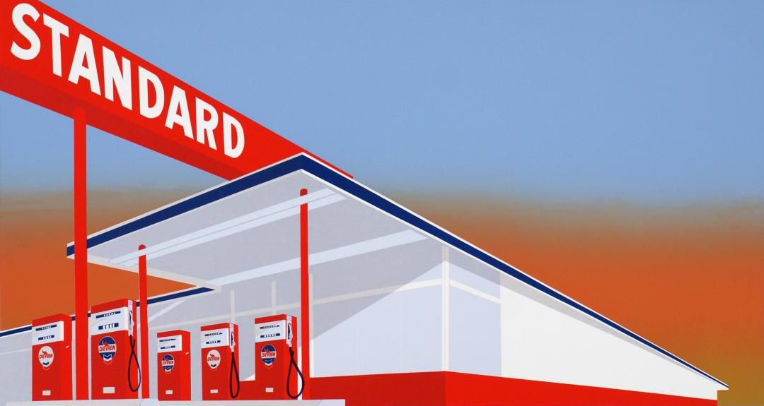 BENSINSTASJON: Kunstneren Ed Ruscha har bilder av flere amerikanske bensinstasjoner