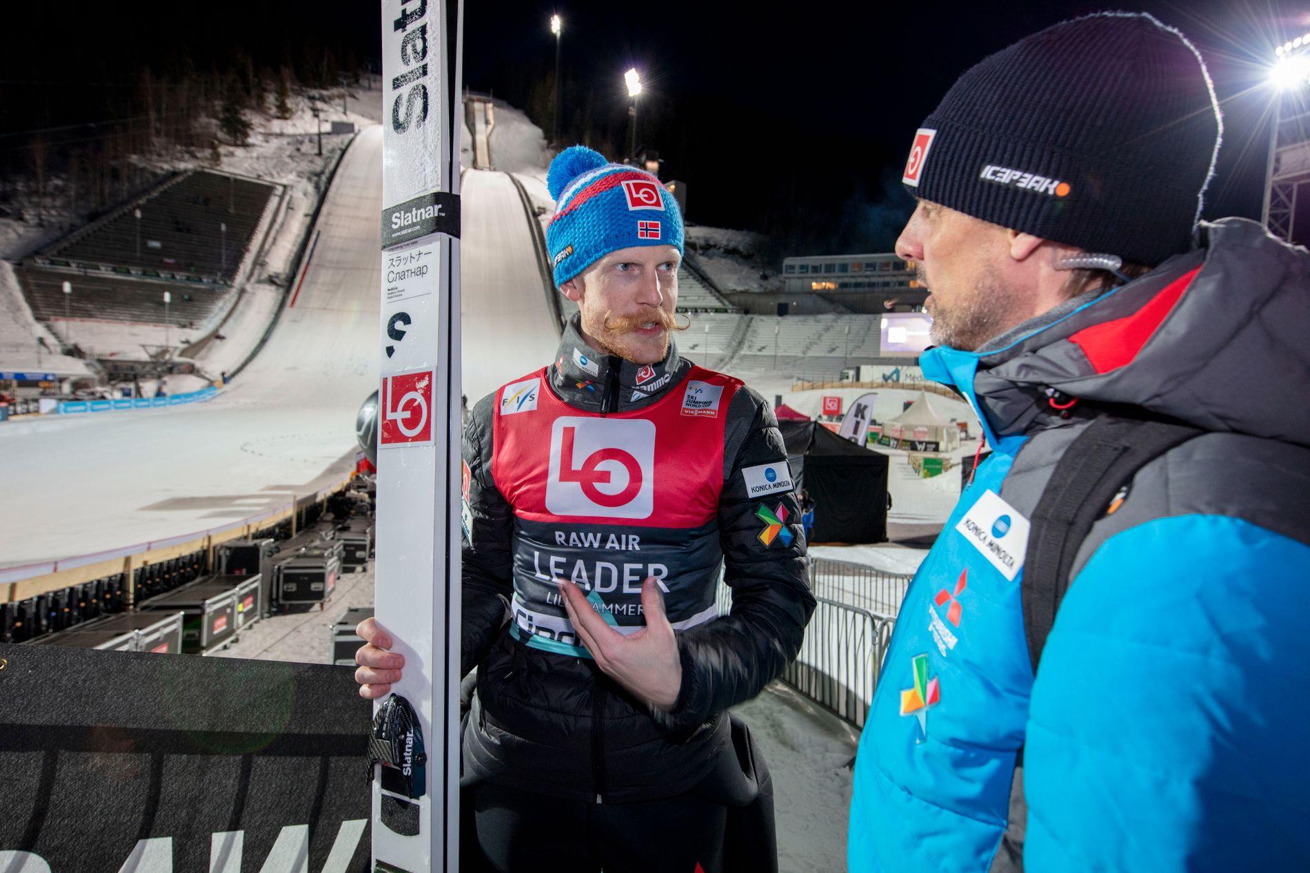 Robert Johansson fikk ikke full klaff i Vikersund fredag.