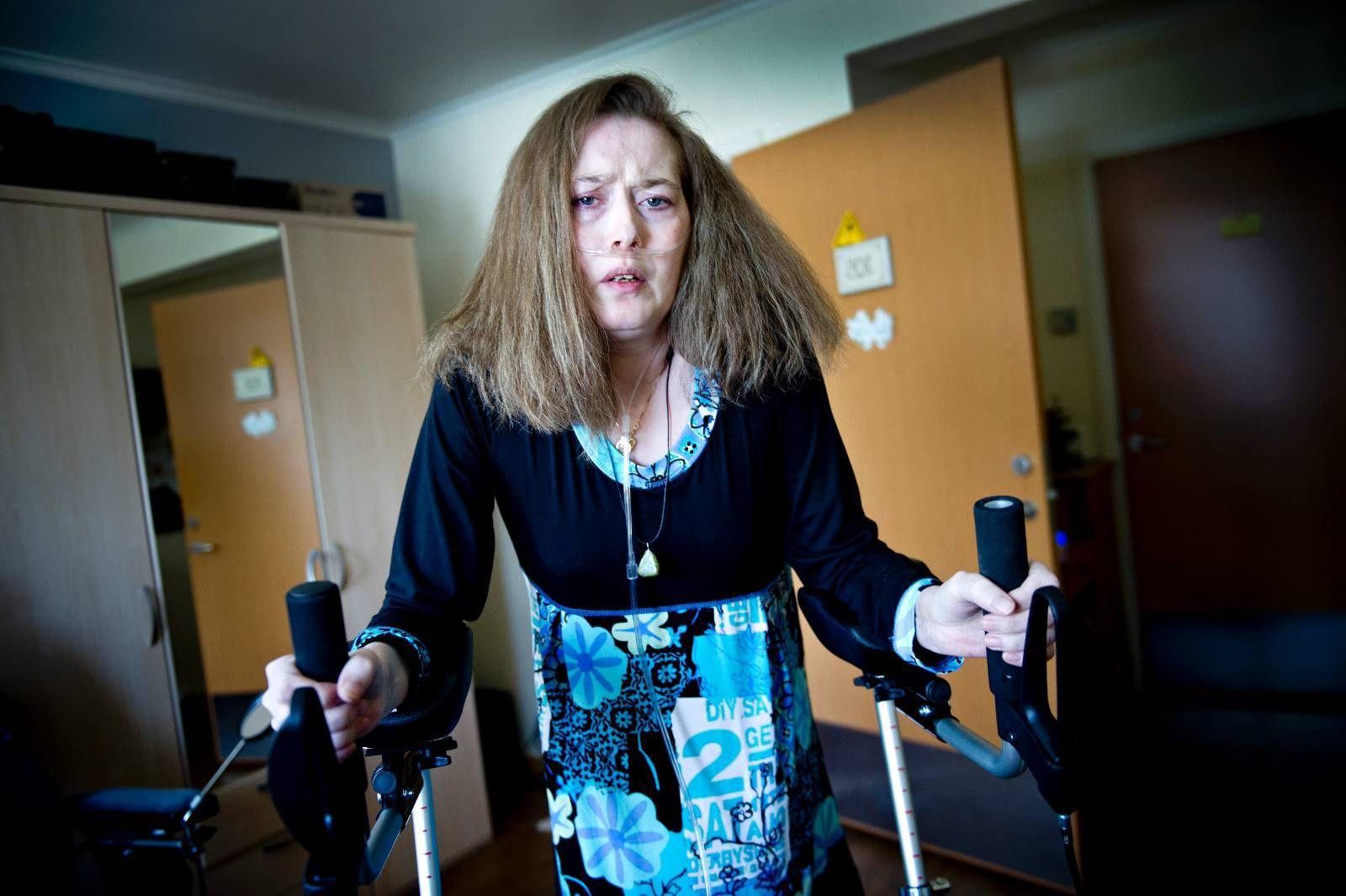 TAPTE KAMPEN: Siv Tove Pedersen fikk aldri stå i kø for lungetransplantasjon. Torsdag valgte hun å avslutte livet ved en klinikk i Sveits. FOTO: HÅVARD BJELLAND