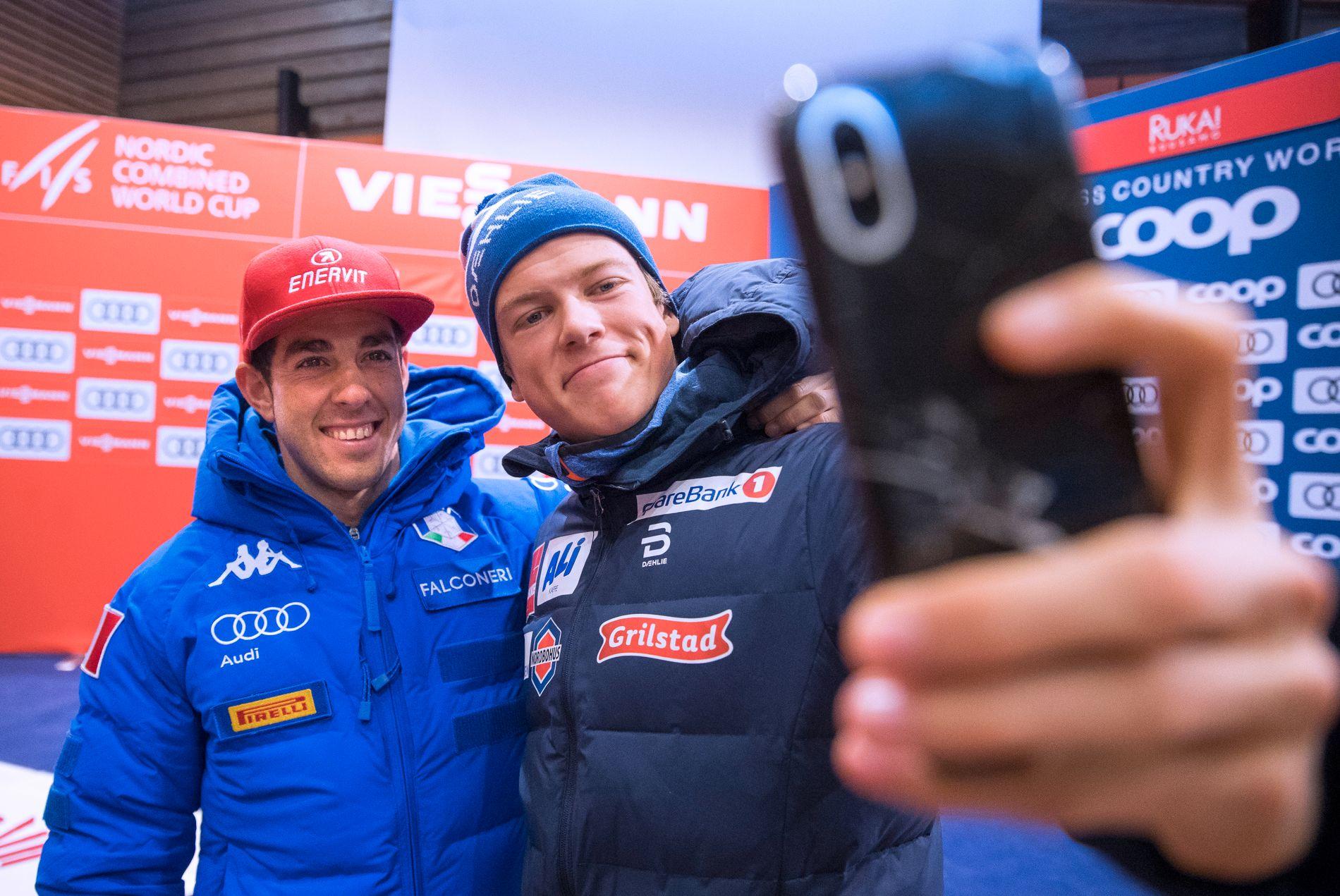 Sprintrivalene Johannes Høsflot Klæbo og Federico Pellegrino skal trene sammen frem mot vinteren.