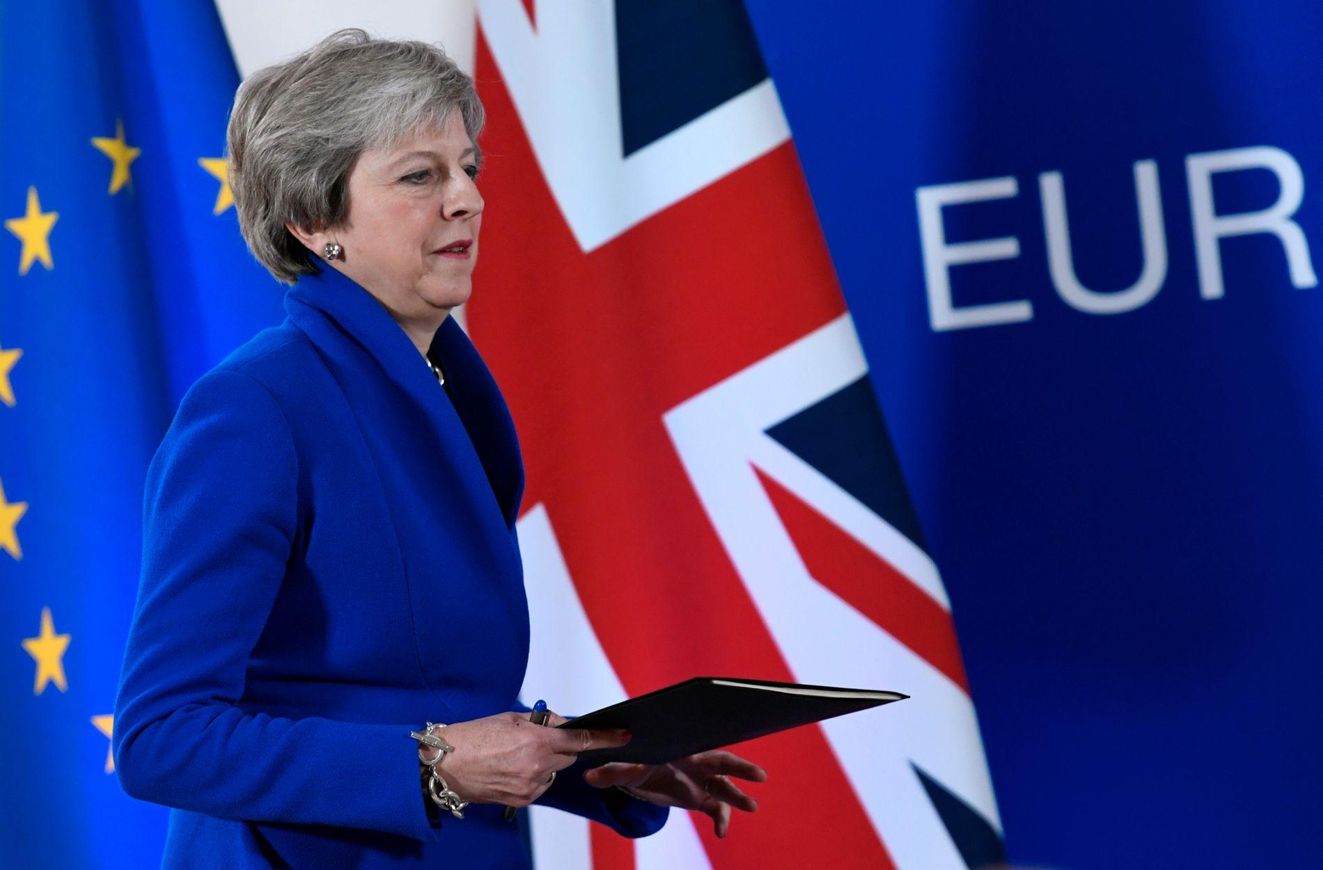 INGEN AVTALE: – Statsminister Theresa May har ikkje fleirtal i sitt eige parlament for avtalen med EU akkurat no. Rarare ting har kanskje skjedd, men det er vanskeleg å sjå korleis ho skal stable det fleirtalet på beina, skriv Morten Myksvoll.
