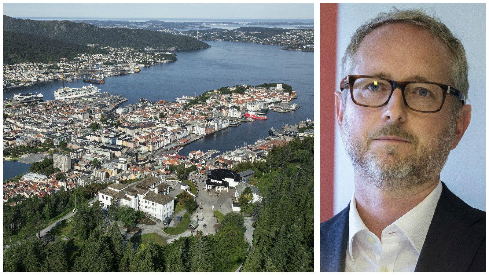 IDENTITET: Bergen er heller ikkje ein by eg tenkjer representerer meg, min bakgrunn (frå Sogn og Fjordane) eller regionen eg vaks opp i overfor Oslo, skriv Bård Vegar Solhjell.