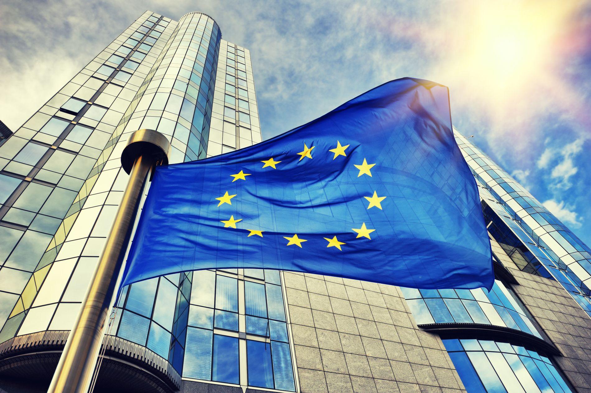STØRRE FORSKJELLER: EØS-avtalen har ført til økt ulikhet i landet vårt, skriver innsenderne. Her vaier EU-flagget utenfor Europaparlamentet i Brussel.