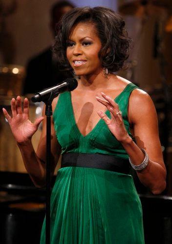 FØRSTEDAMEN: Michelle Obama introduserte forleden Stevie Wonder under en konsert til ære for artisten.