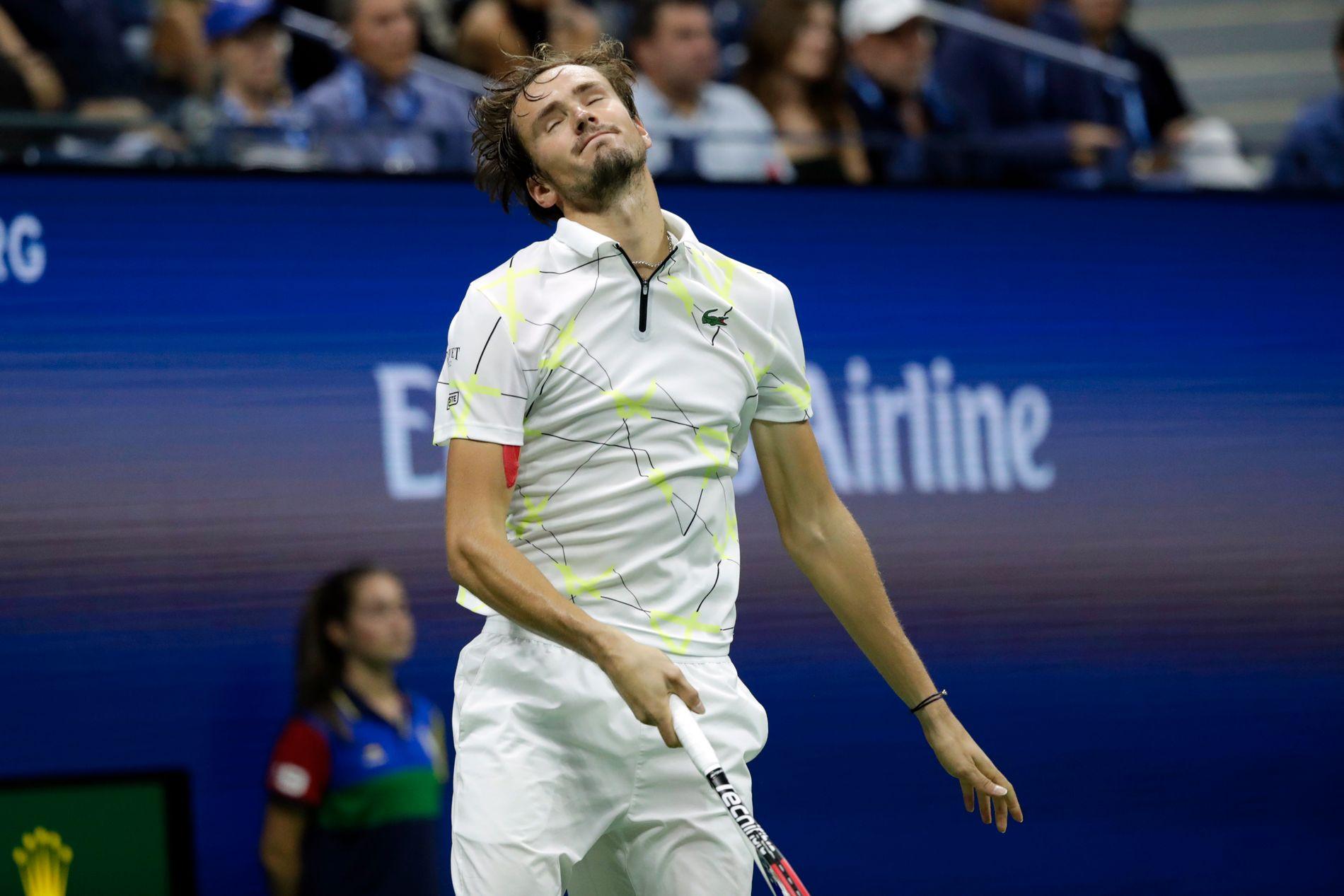 Russiske Daniil Medvedev kjempet hardt og lenge mot Rafael Nadal i finalen i årets US Open i New York.
