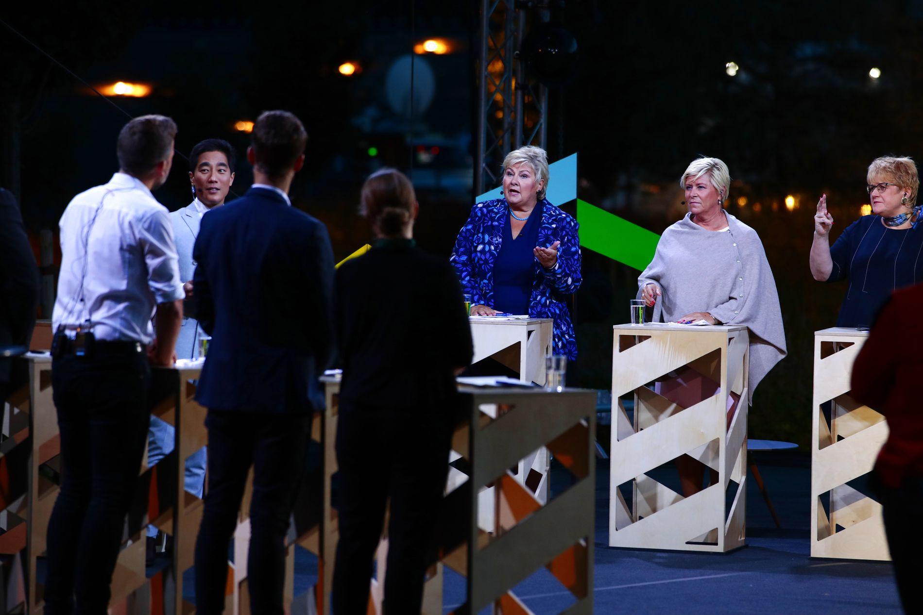 IKKE BEST: Solberg var jevnt over god i debatten og fikk som den bergenseren hun er snakket svært mye. Men hun var et stykke unna sitt aller beste.