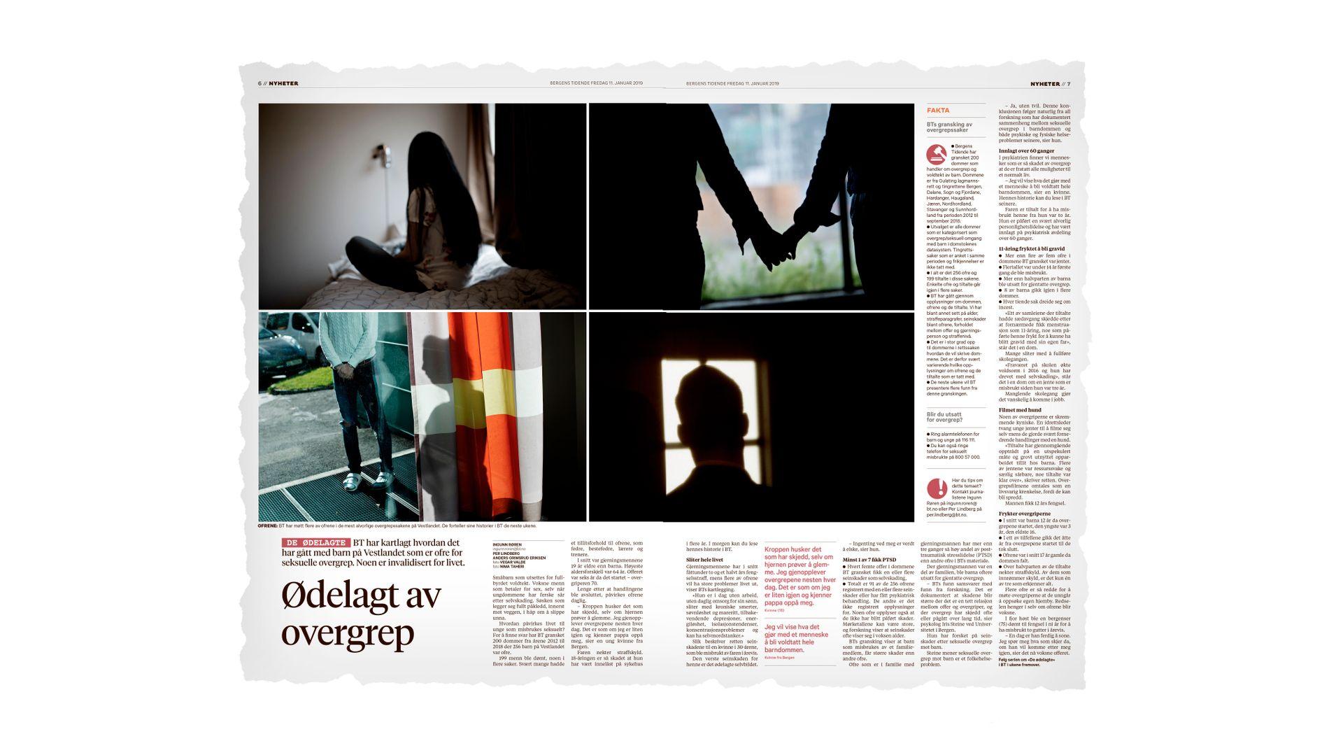 SVARTMALER: Først og fremst er det positivt at BT forteller om de grusomme konsekvensene som overgrep mot barn og unge kan ha, men vi reagerer på bildet av overgrepsutsatte som males, skriver psykolog