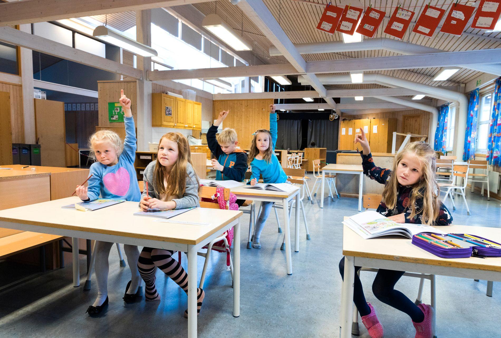 Regjeringen ber kommunene teste ut ordninger for fleksibel skolestart. Foto: Gorm Kallestad / NTB scanpix