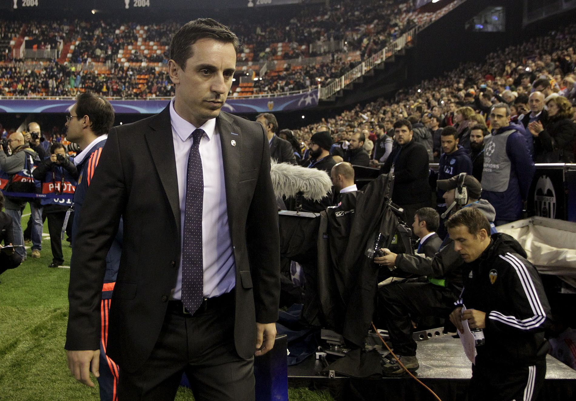 Gary Neville er en populær ekspert for Sky Sports, men som Valencia-manager hadde han lite suksess.