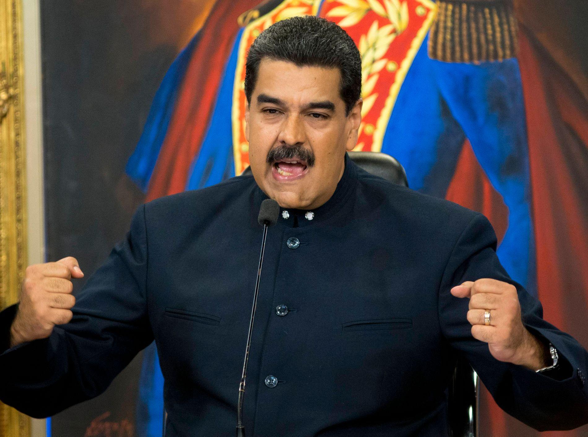 STYRKET: Nicolás Maduro har kommet styrket ut av det siste årets uro i Venezuela, mener innsenderen.
