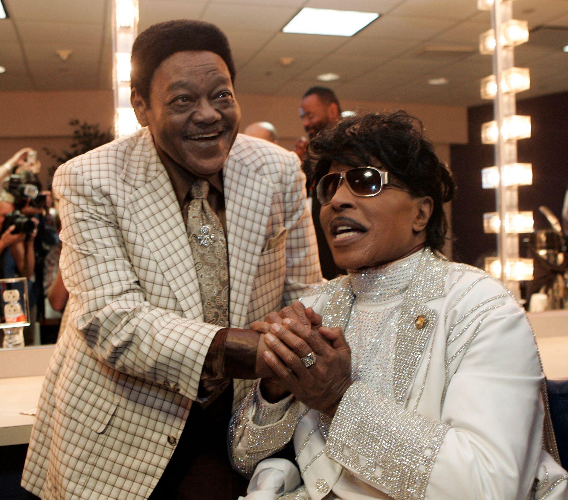 Fats Domino (t.v.) sammen med Little Richard i 2009. Foto: AP / NTB scanpix