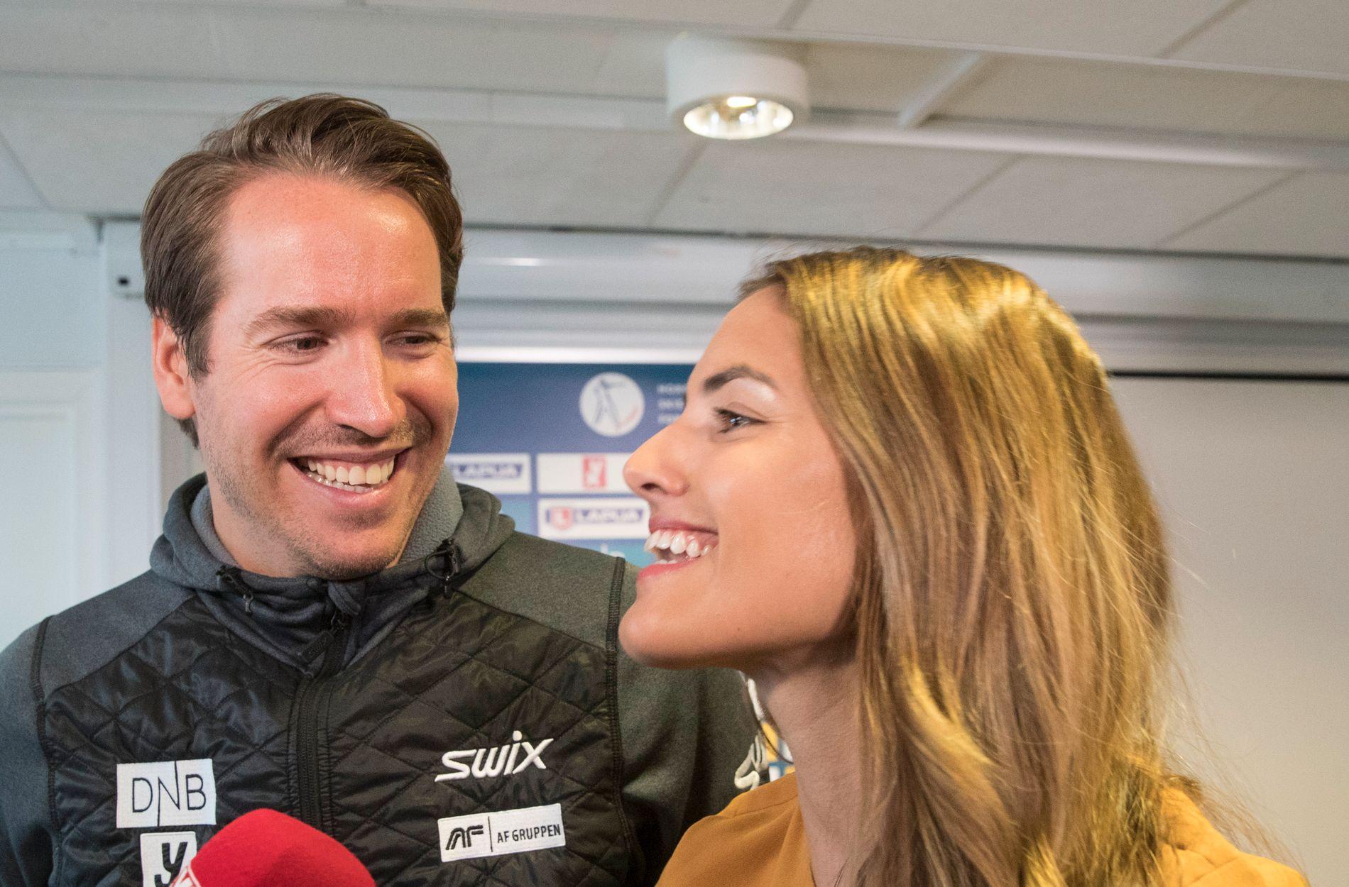 Emil Hegle Svendsen og Samantha Skogrand er blitt foreldre for første gang. Her fra en tidligere anledning.