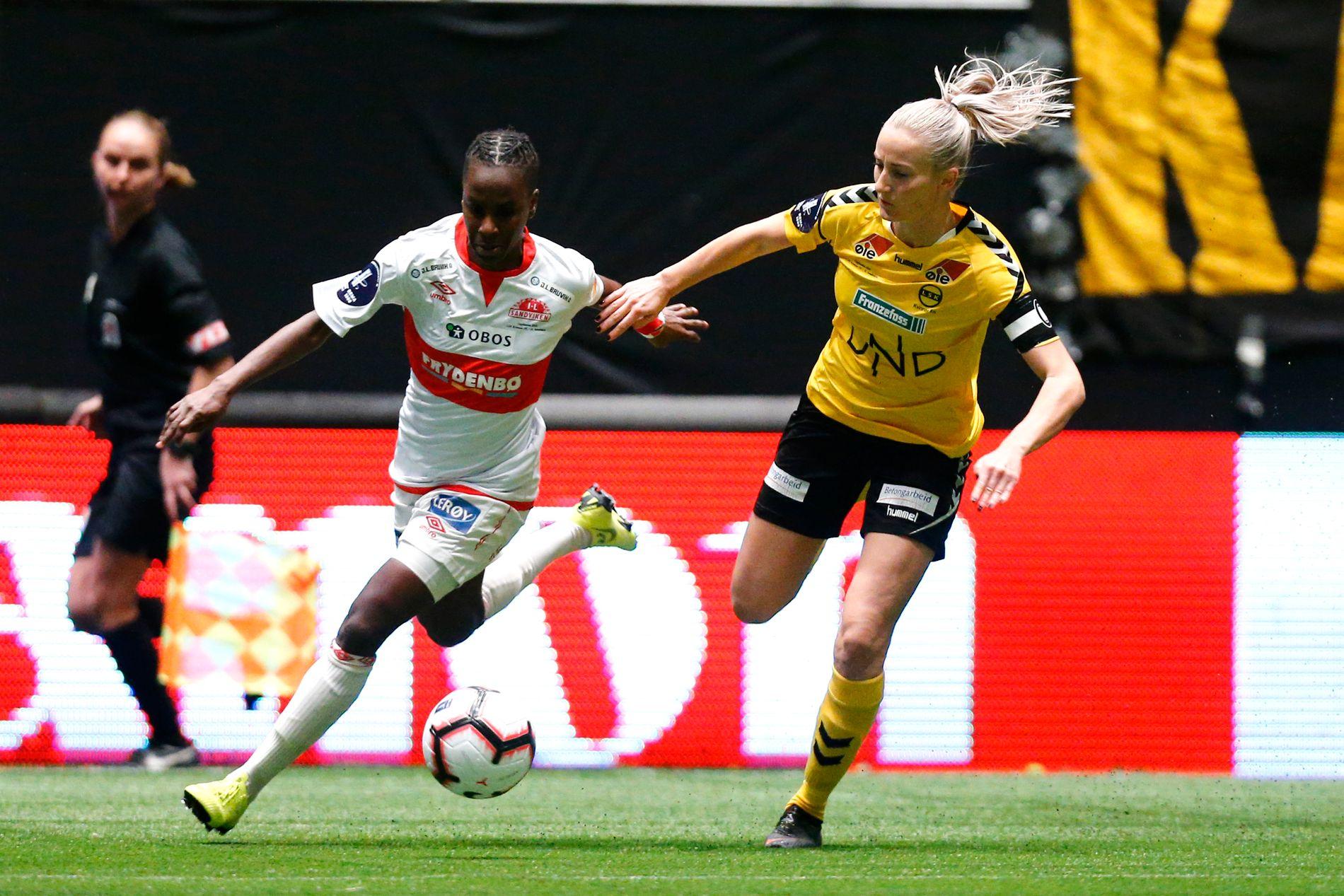 Kennya Kinda Esther Cordner sto for de fleste av sjansene Sandviken kom til i lørdagens cupfinale.